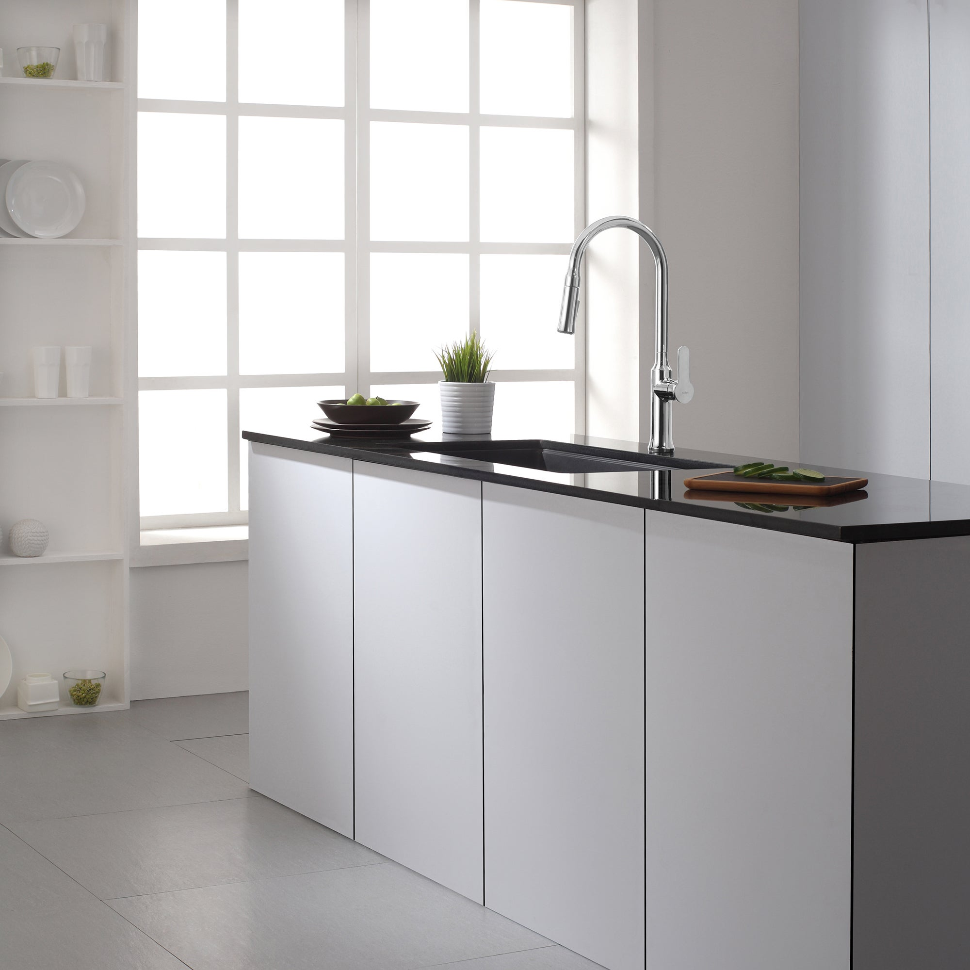 Shop KRAUS Nola Single-Handle Kitchen Faucet with Pull Down Dual ...