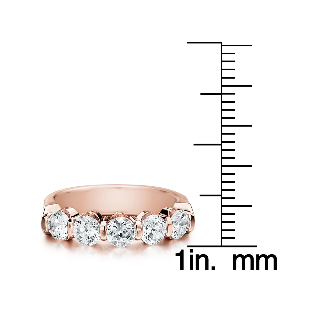 women diamond ring s round anniversary bands rose band gold i wedding cut new