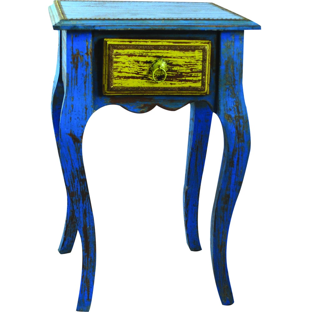 Handmade Teak Wood One-drawer End Table (India) - Free Shipping ...