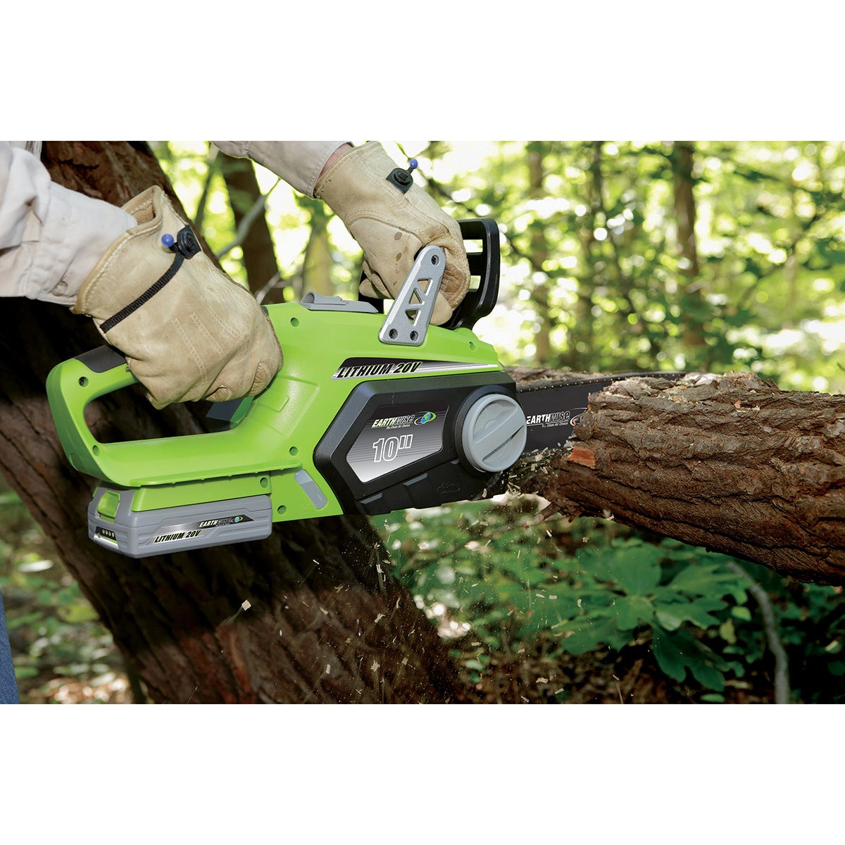 Earthwise 10 inch cordless 20 volt lithium ion chain saw free earthwise 10 inch cordless 20 volt lithium ion chain saw free shipping today overstock 16848944 greentooth Images