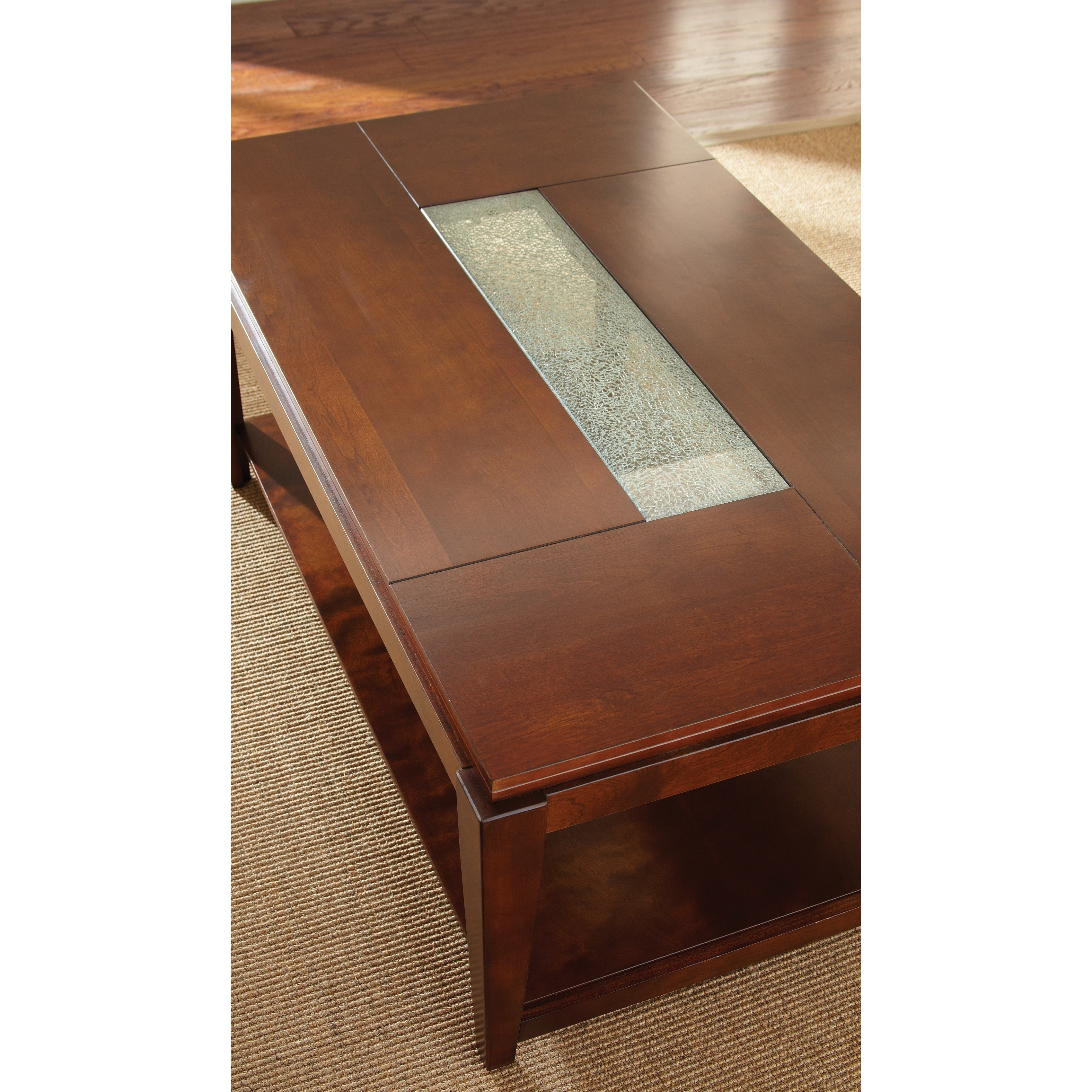 Shop Juliana Cracked Glass Inset Coffee Table By Greyson Living   Free  Shipping Today   Overstock.com   9669807