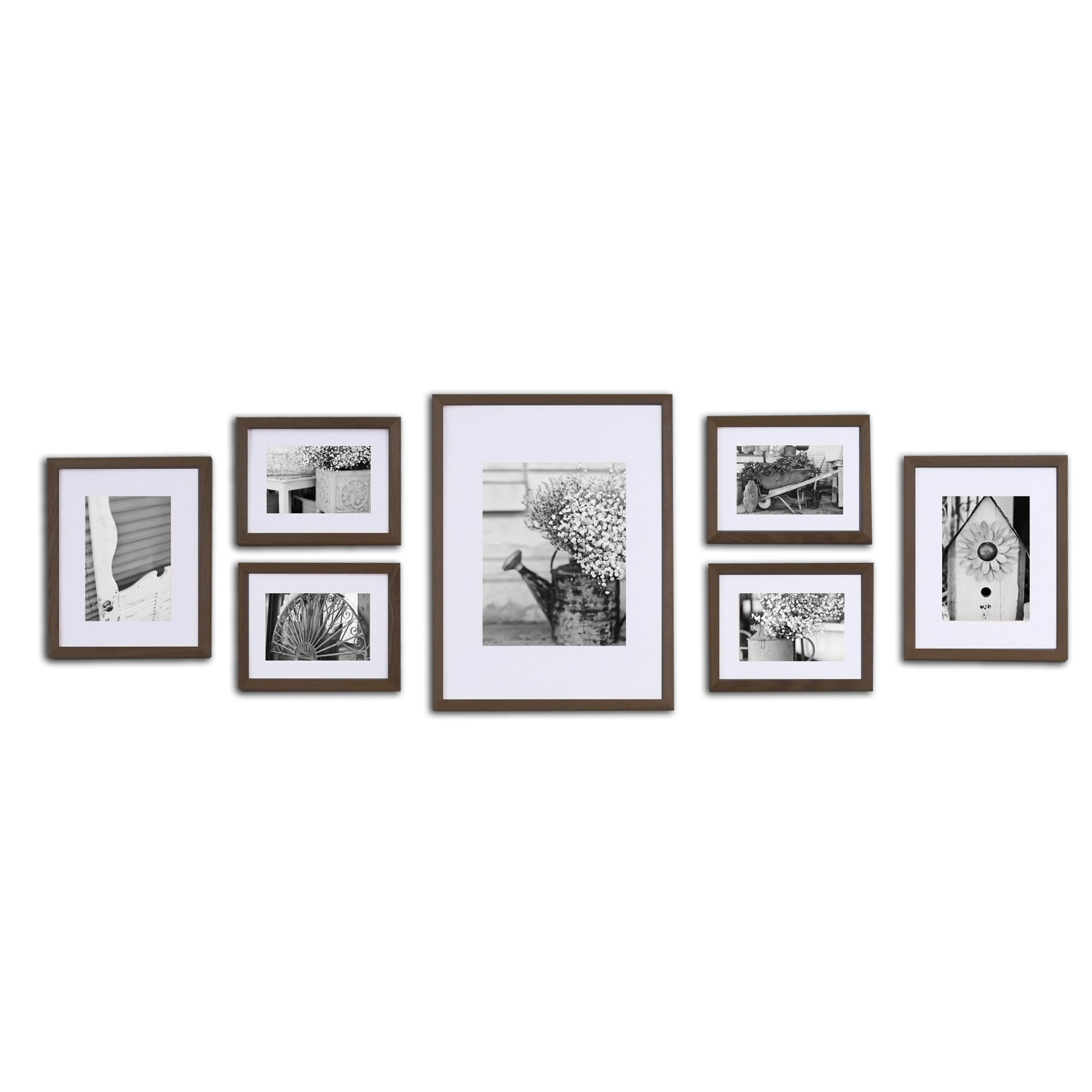Pinnacle frames accents gallery perfect 7 piece wall kits free pinnacle frames accents gallery perfect 7 piece wall kits free shipping today overstock 16855265 jeuxipadfo Images