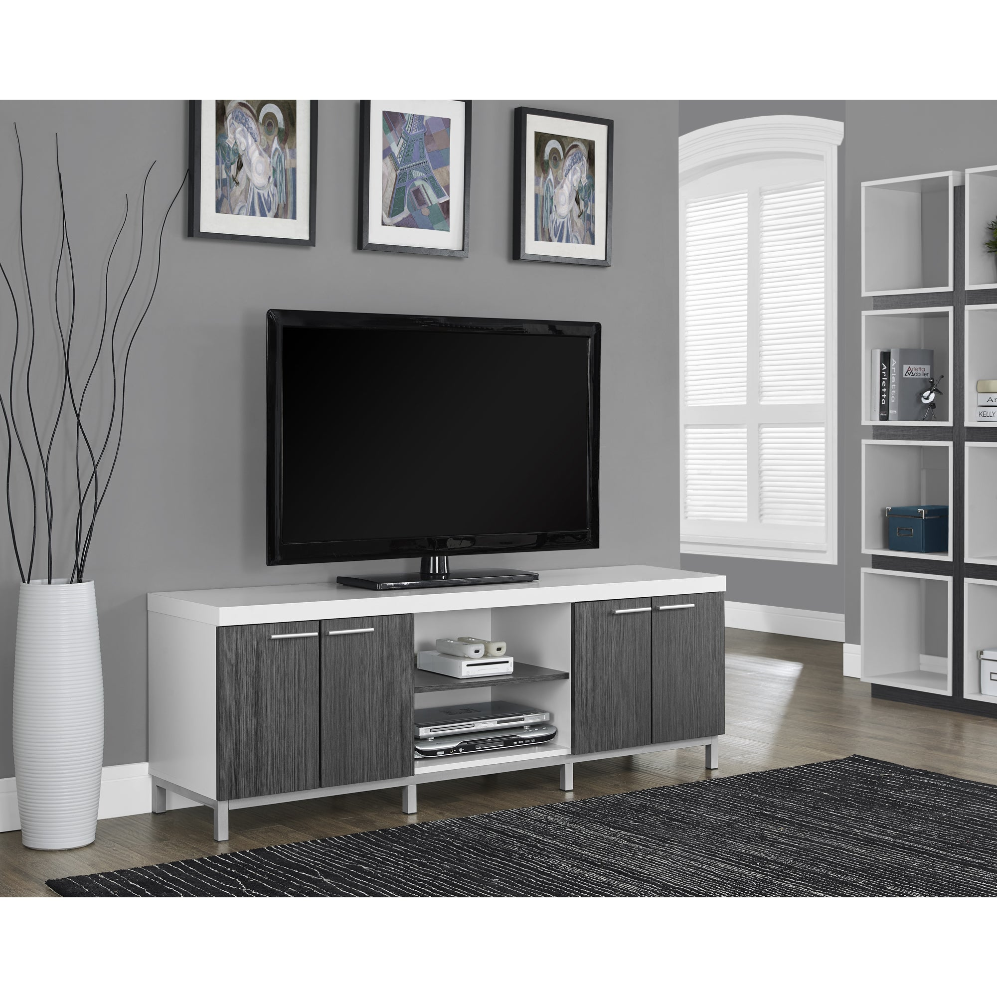 Shop White and Grey Hollow core 60 inch TV