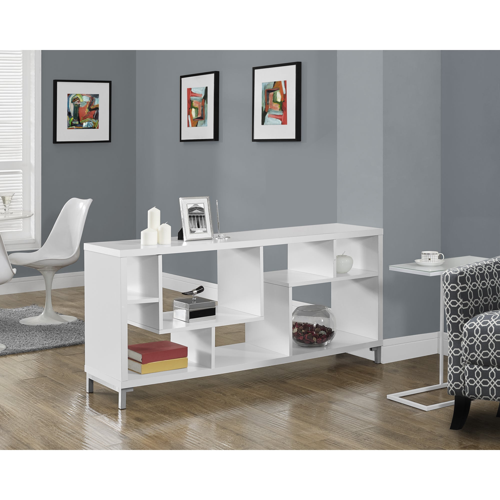 Shop White Hollow core 60 inch TV Console