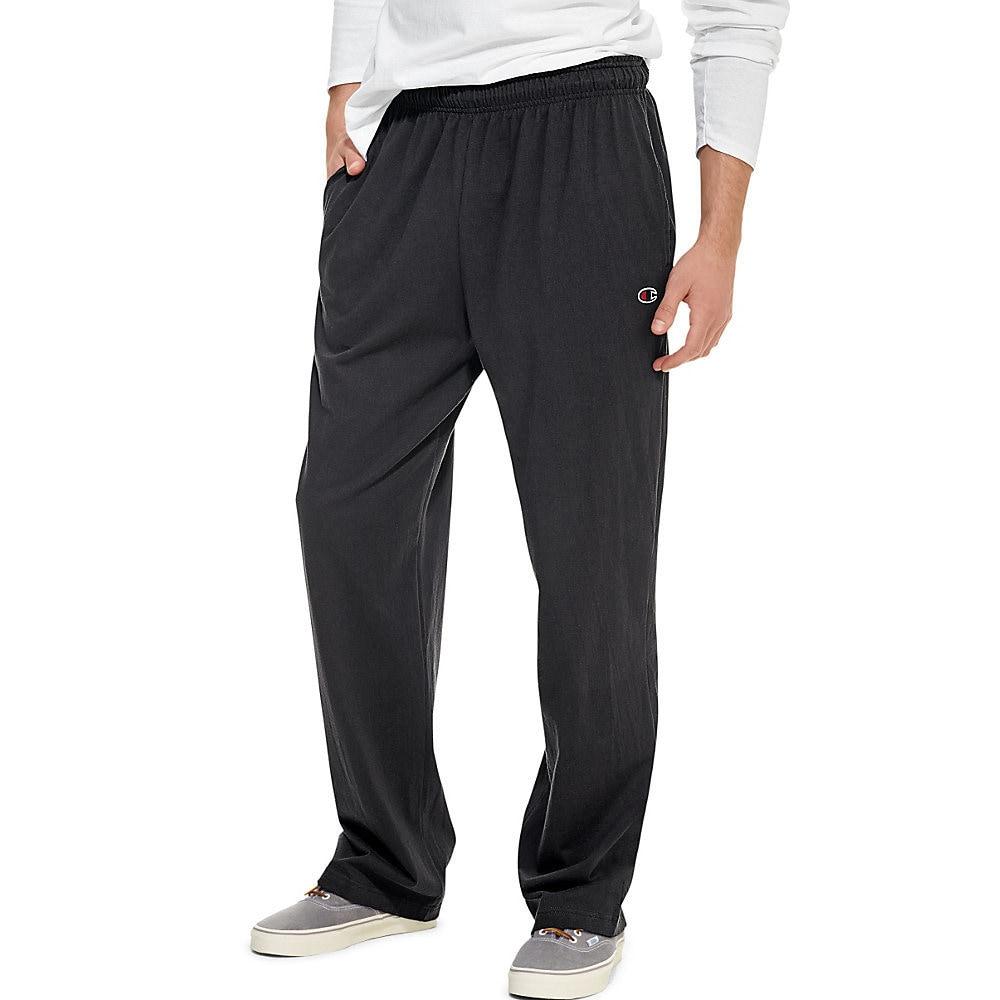 cb0fd697a7c0 Shop Champion Authentic Men s Open Bottom Jersey Pants - Free ...