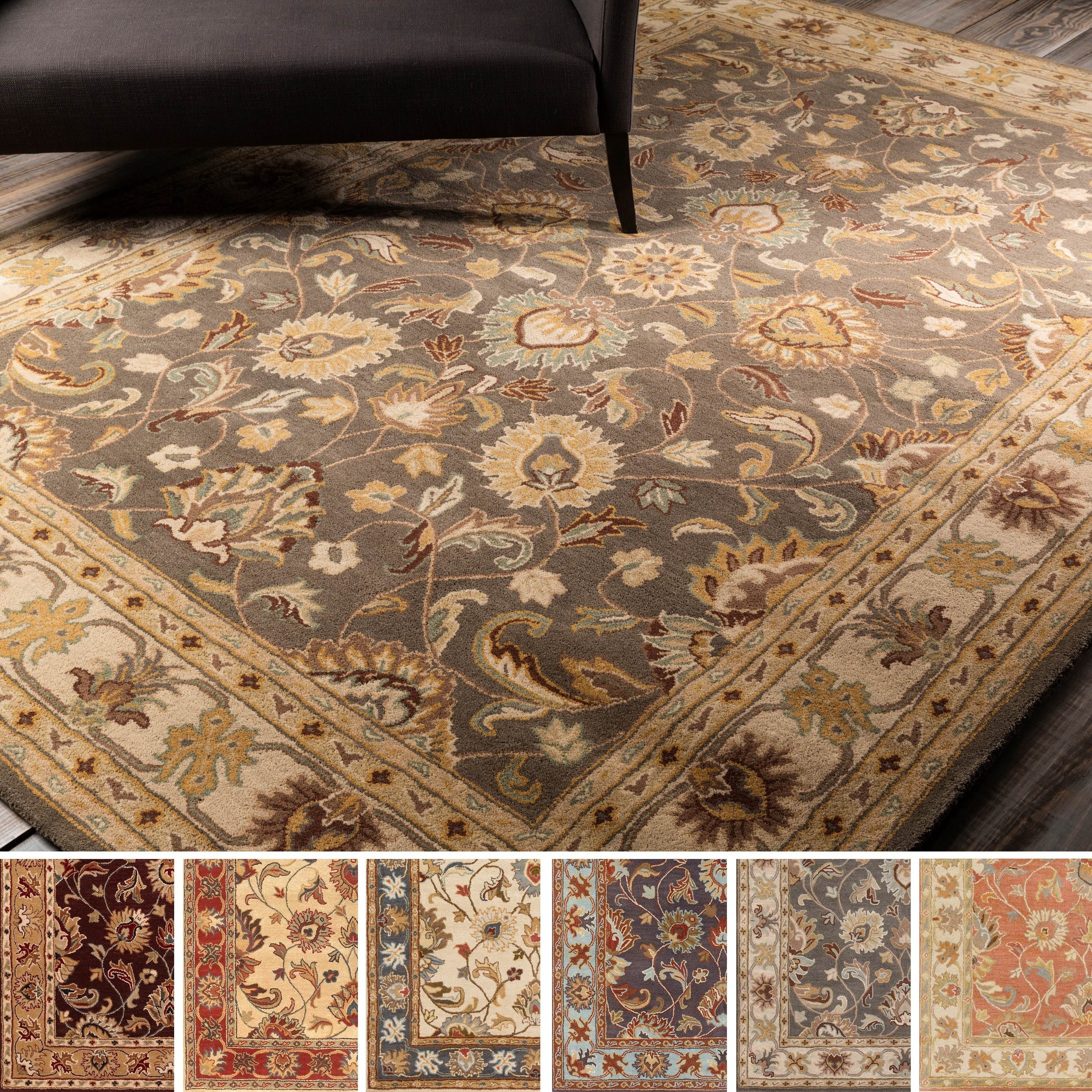 Shop Hand Tufted Nia Traditional Wool Area Rug 8 X 11 8 X 11