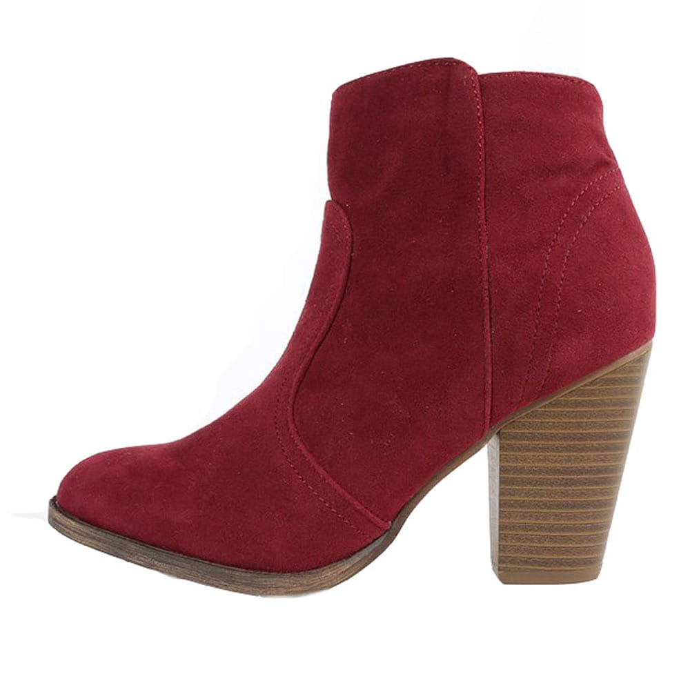 572358b1dccd3 Shop Breckelle's Women's 'Heather-34W' Chunky Heel Ankle Booties - Free  Shipping On Orders Over $45 - Overstock - 9680441