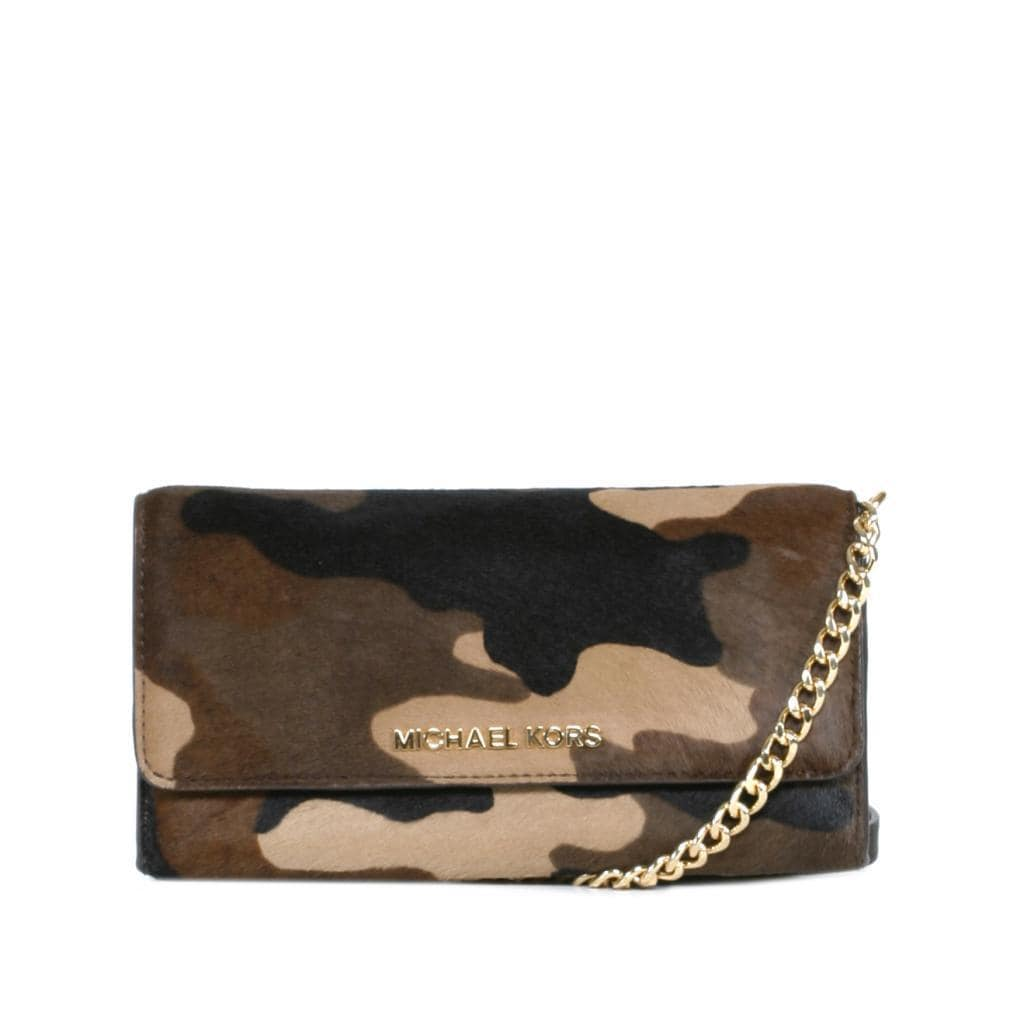 27c7be965d94 Shop Michael Kors Jet Set Haircalf Chained Camoflauge Wallet - Free  Shipping Today - Overstock - 9680712