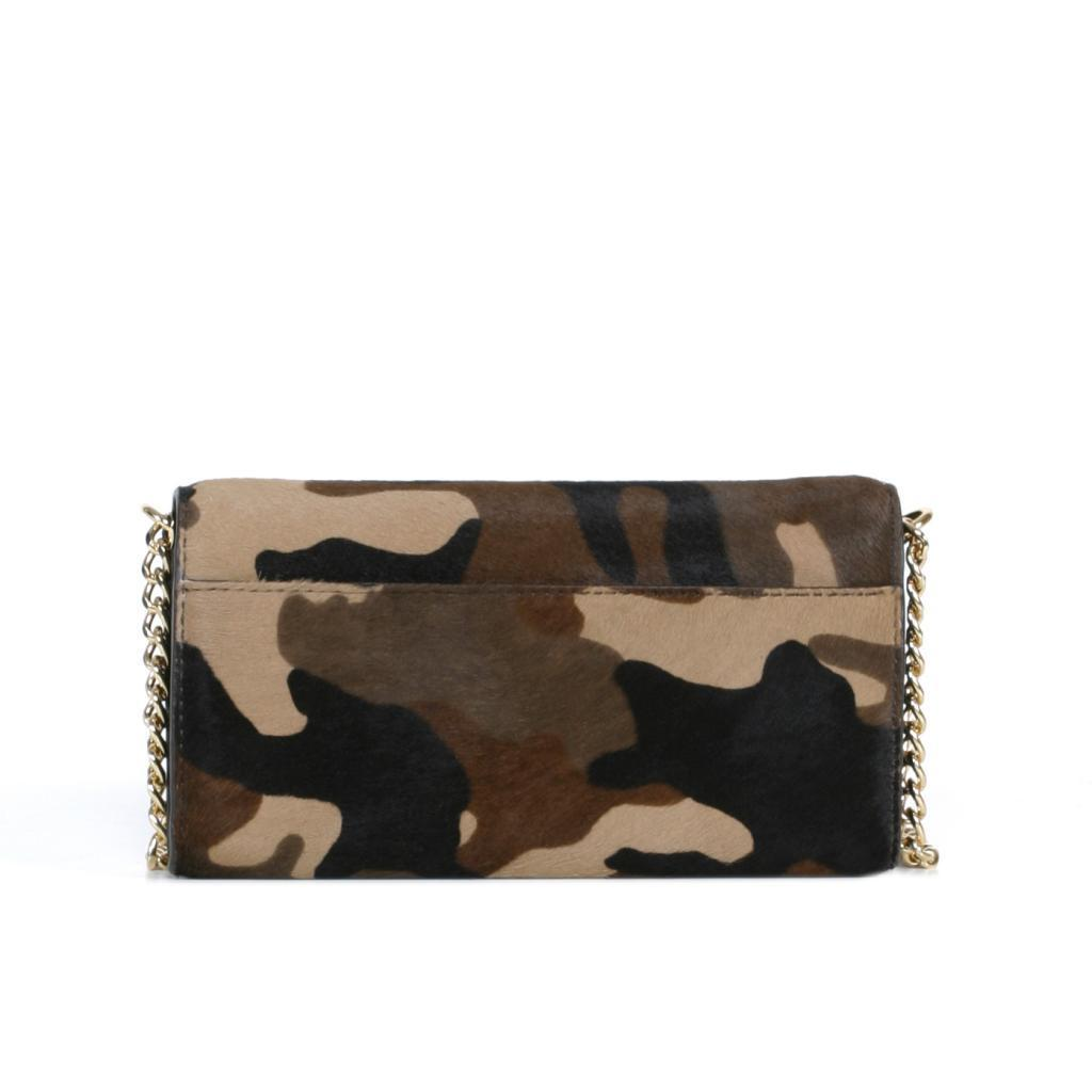 45a0dba12123 Shop Michael Kors Jet Set Haircalf Chained Camoflauge Wallet - Free ...