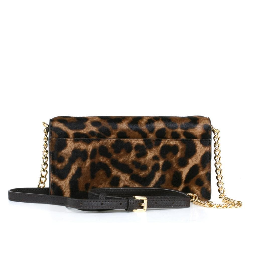349f657890a8 Shop MICHAEL Michael Kors Leopard Jet Set Travel Mara Haircalf Wallet On A  Chain - Free Shipping Today - Overstock - 9680713