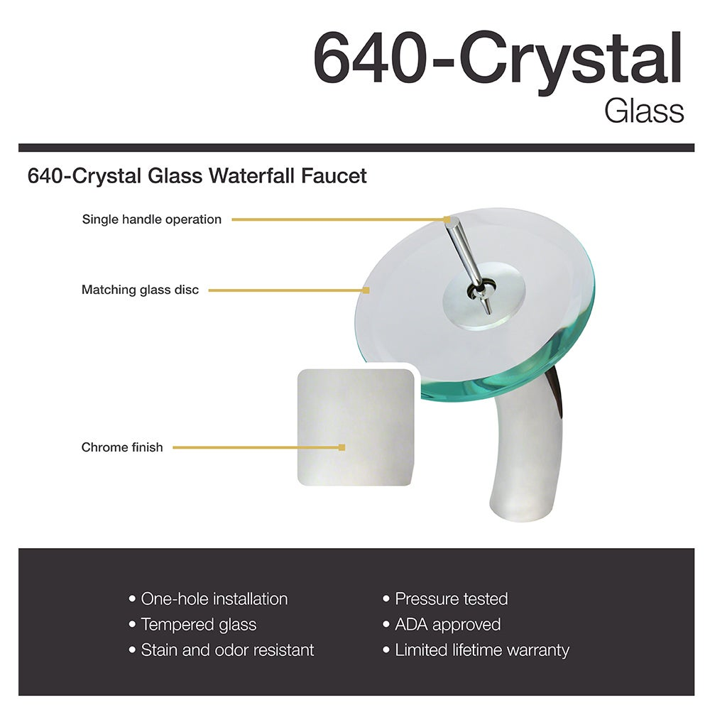 640 crystal glass vessel bathroom sink with chrome vessel faucet 640 crystal glass vessel bathroom sink with chrome vessel faucet and vessel pop up drain free shipping today overstock 16859968 ccuart Images