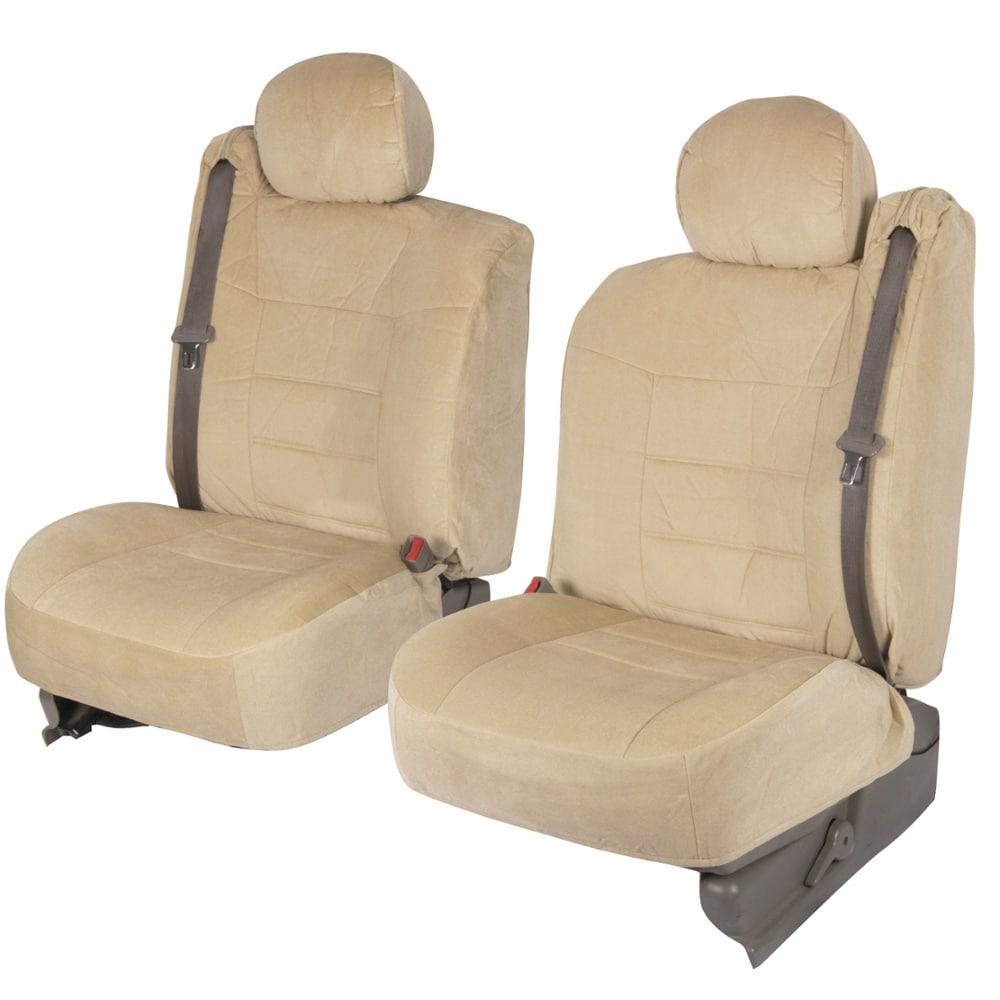 BDK 4-piece Encore Fabric Front Truck Seat Covers - Beige
