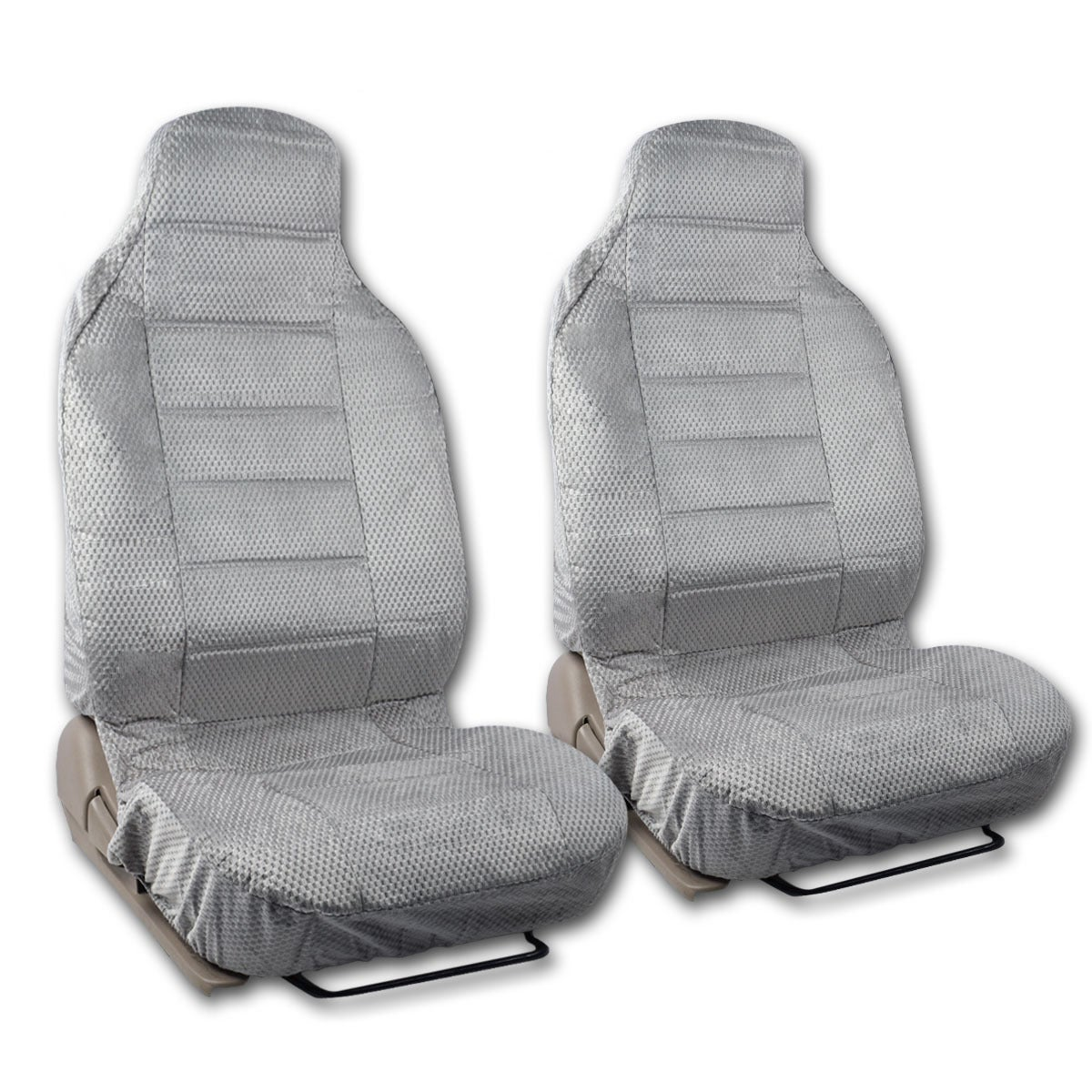 BDK Universal Fit 2 Piece Scottsdale Fabric High Back Bucket Seat Deluxe Front Car Covers