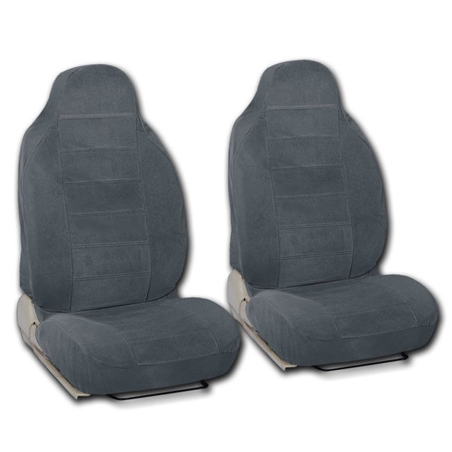 Shop BDK Universal Fit 2 Piece Encore Fabric High Back Bucket Seat Deluxe Front Car Covers