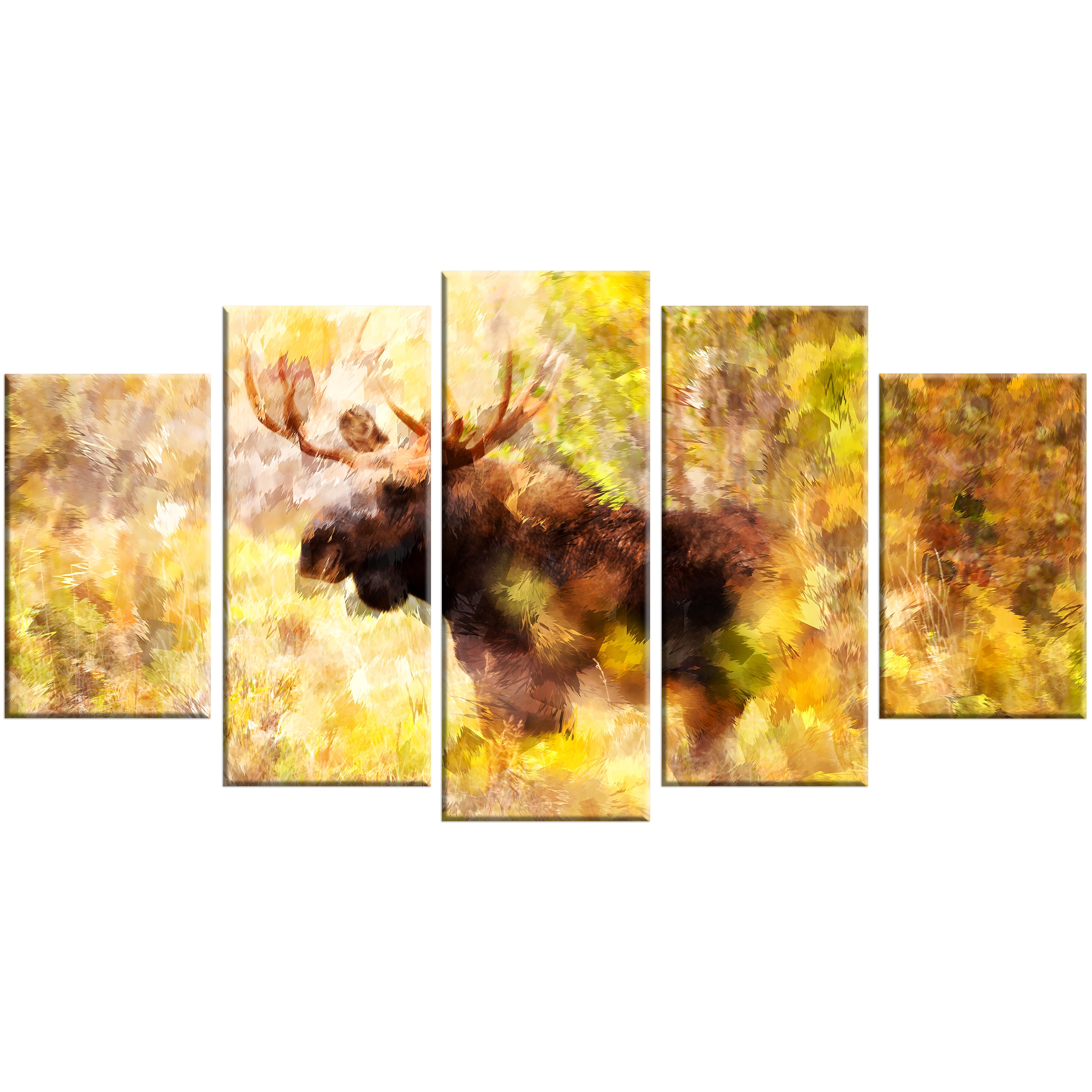 Shop Magnificent Moose Animal Art (Multiple Sizes) - Free Shipping ...