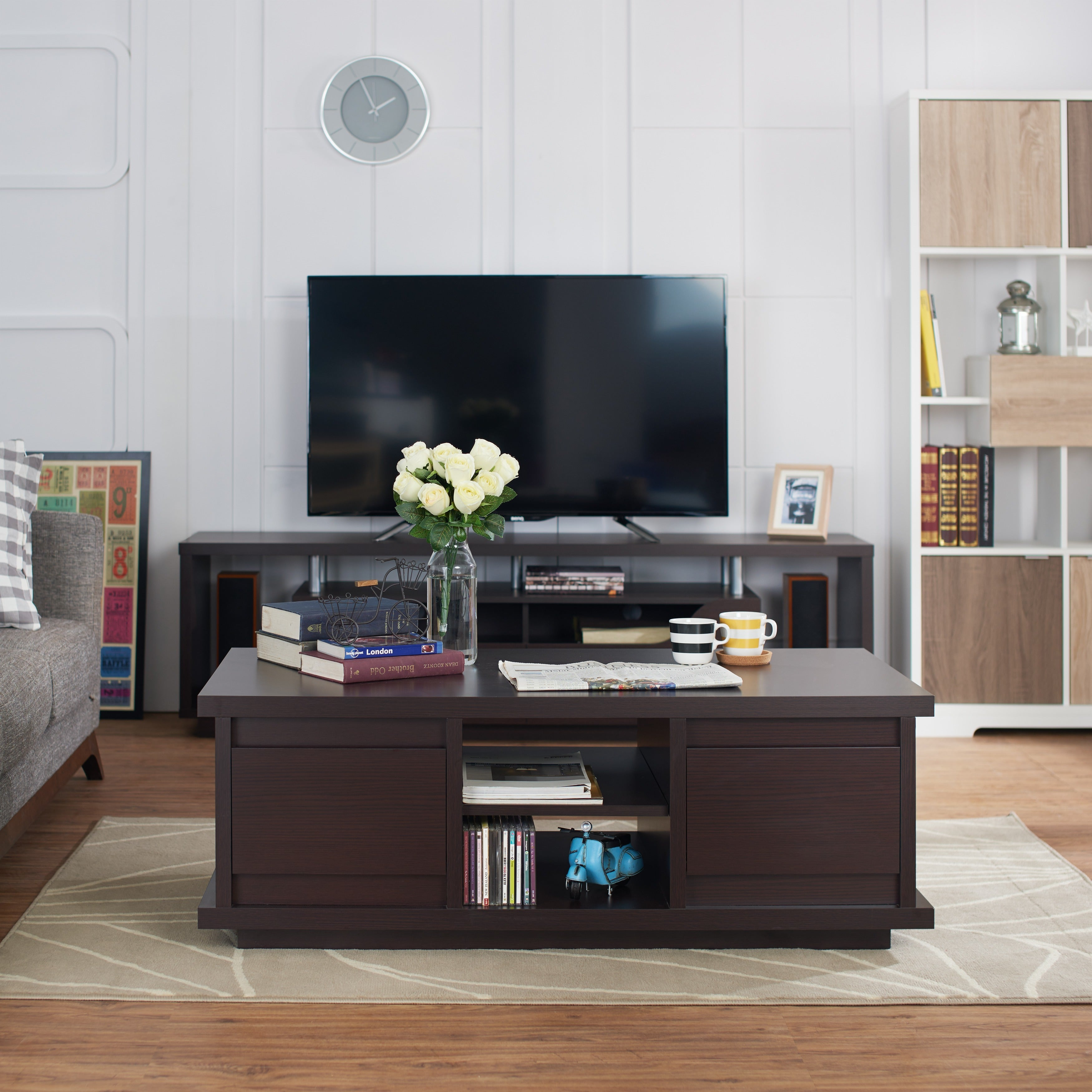 Furniture Of America Irvine Walnut Coffee Table Free Shipping Today With Koontz  Furniture.