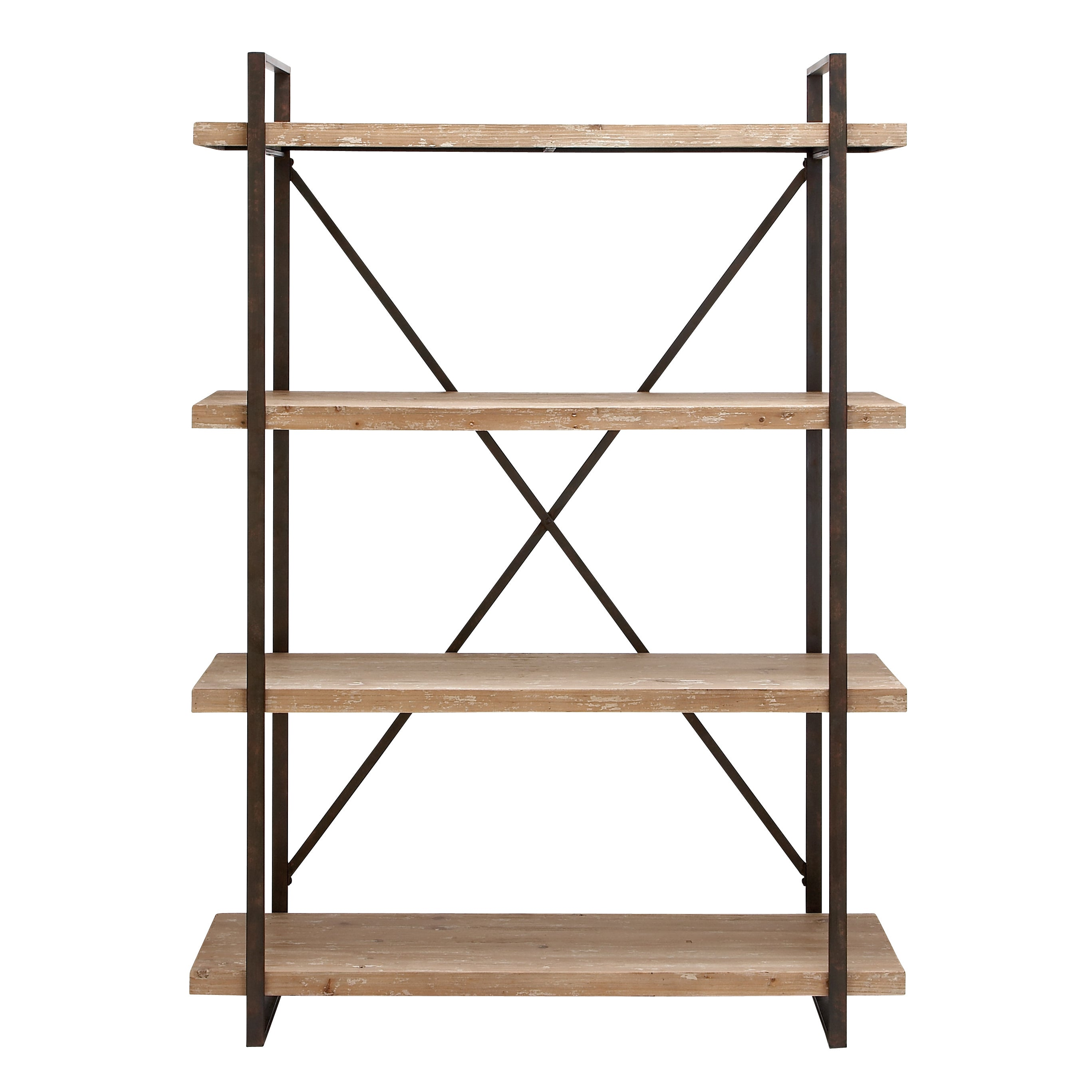 Amazing Industrial Look Metal And Wood Storage Shelf   Free Shipping Today    Overstock.com   16866581