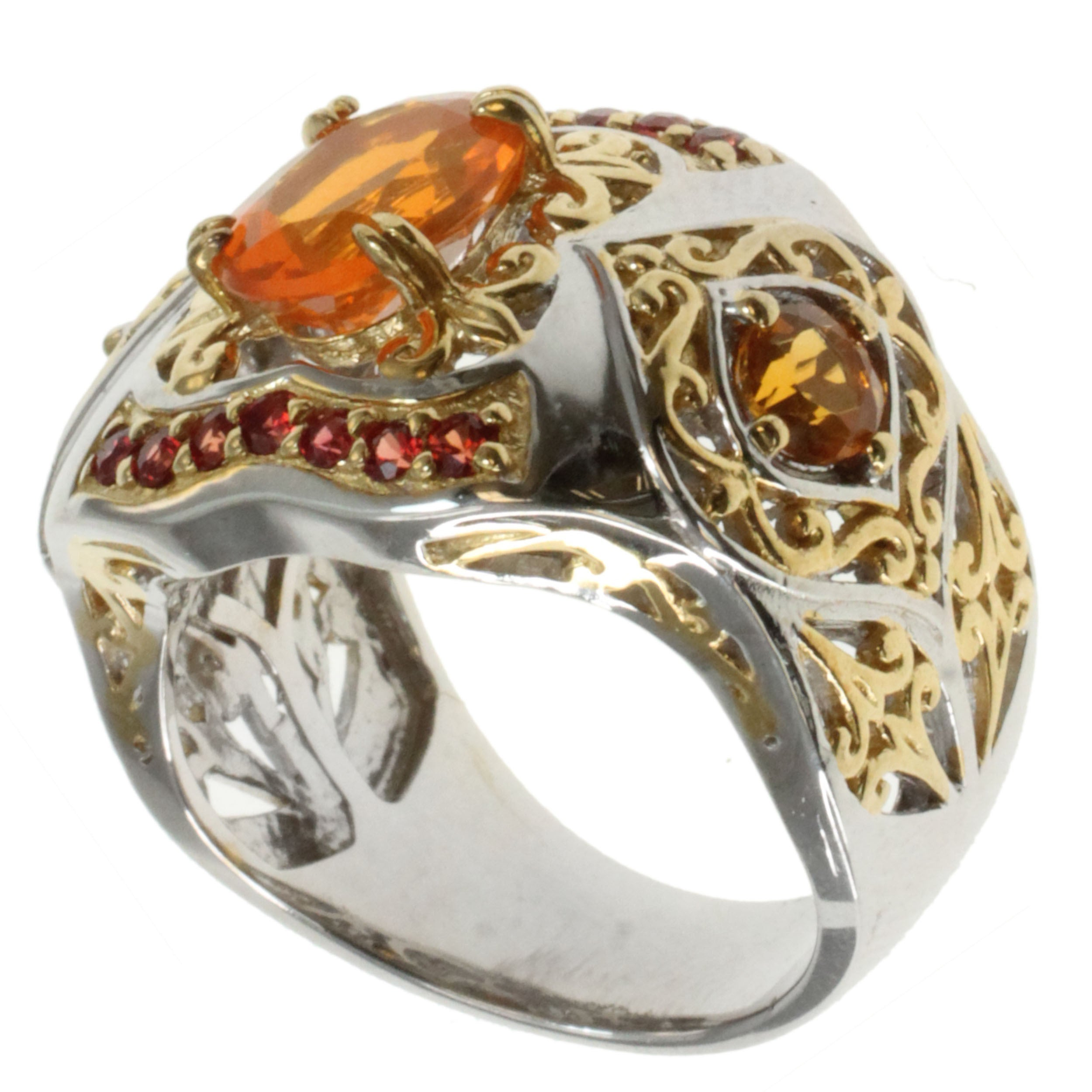 orange diamonds brown approx estate engagement in retro platinum ring certified rose vintage rings gia diamond cognac california rambling tw accent fancy and