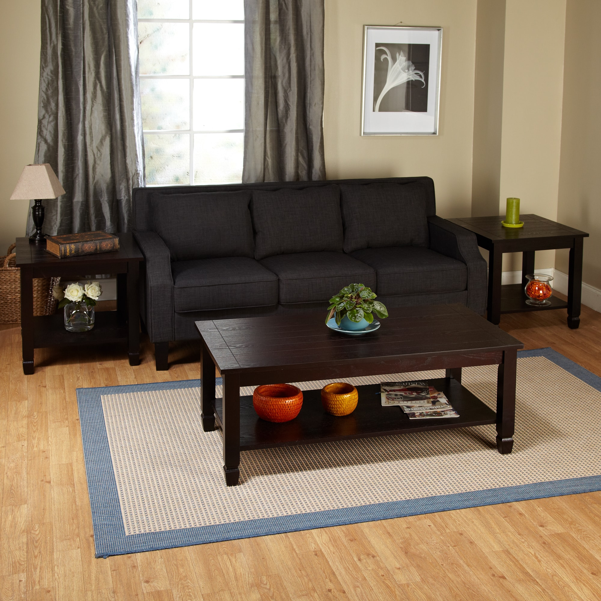 room pertaining small table decor dark to living brown coffee with wood best