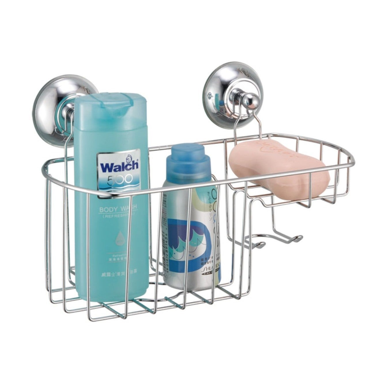 Shop Bath Caddy with Wall Suction Cups - Free Shipping On Orders ...