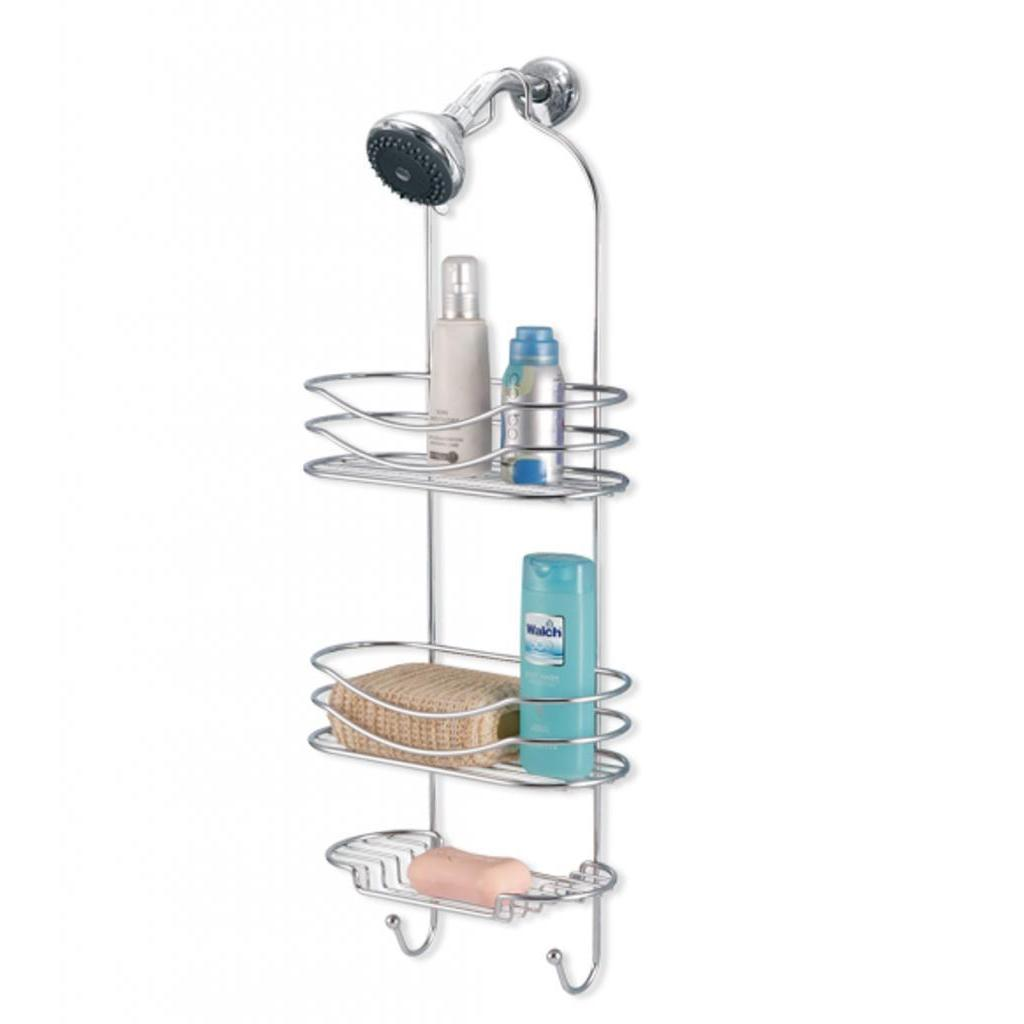 Shop Three Tier Shower Caddy with Hooks - Free Shipping On Orders ...