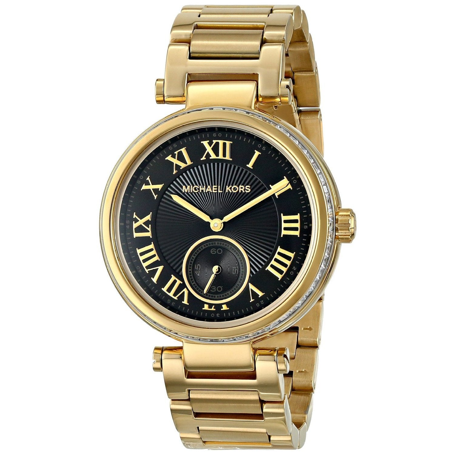 1ec2a1a9d60d Michael Kors Women s MK5989  Skylar  Gold Tone Ion Plated Stainless Steel  Watch