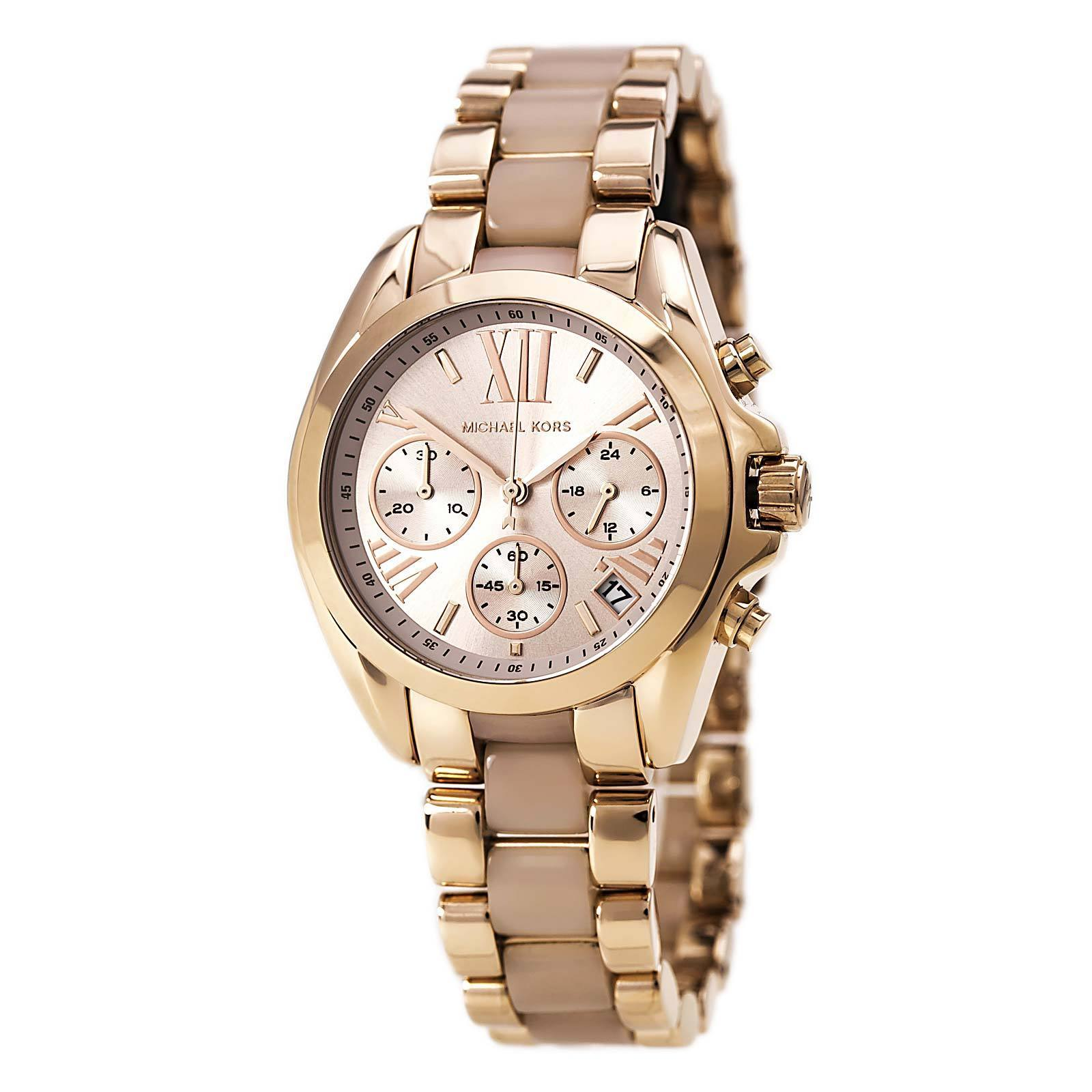 25cfebe859f Michael Kors Women s MK6066  Bradshaw  Rose Gold Tone Ion Plated Stainless  Steel Watch