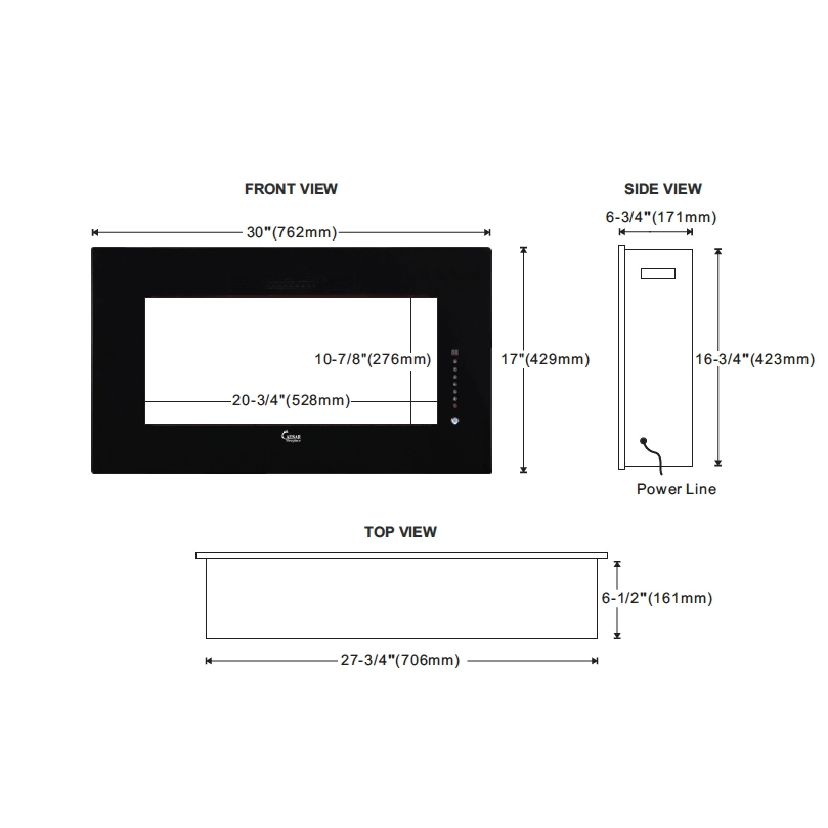 Electric Fireplace Mounting Diagram Electrical Wiring Diagrams Shop Caesar Luxury Linear Wall Mount Recess Freestanding 30 Inch Gas Technologies Inc