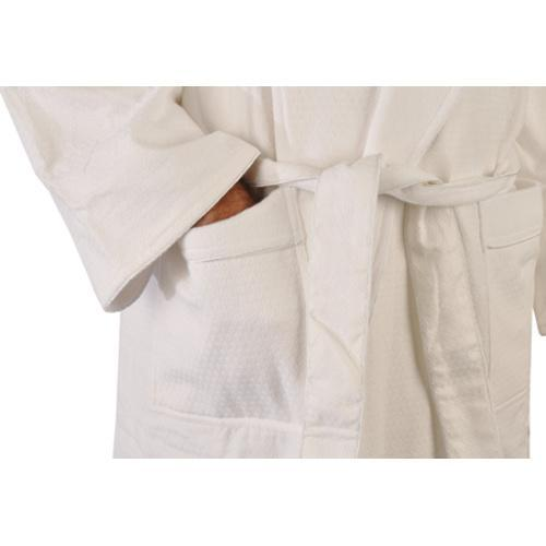 9cbefb7892 Shop Chadsworth   Haig Diamond Jacquard Shawl Robe White - On Sale - Free  Shipping Today - Overstock - 9698888