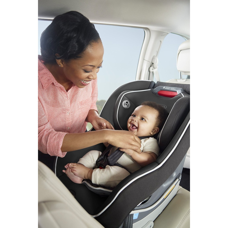 Shop Graco Contender 65 Glacier Plastic Metal Convertible Car Seat