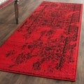 Safavieh Adirondack Vintage Overdyed Red/ Black Rug (2'6 x 8')