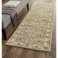 Safavieh Handmade Heritage Timeless Traditional Light Blue/ Ivory Wool Rug (8' x 10')