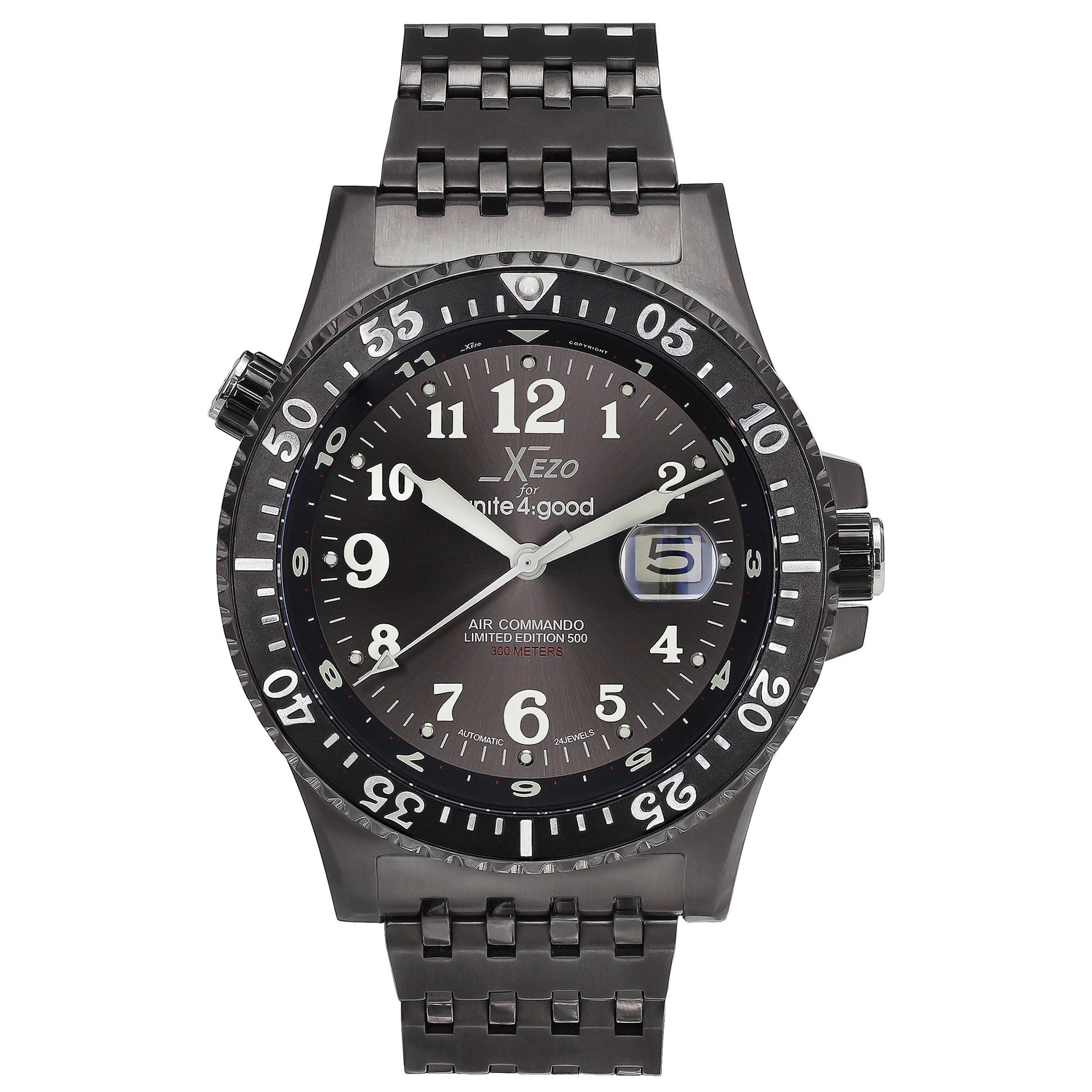 735283ebe Shop Xezo for Unite4:good Air Commando Men's Limited-Edition Automatic  Divers and Pilots Watch - Free Shipping Today - Overstock - 9720826