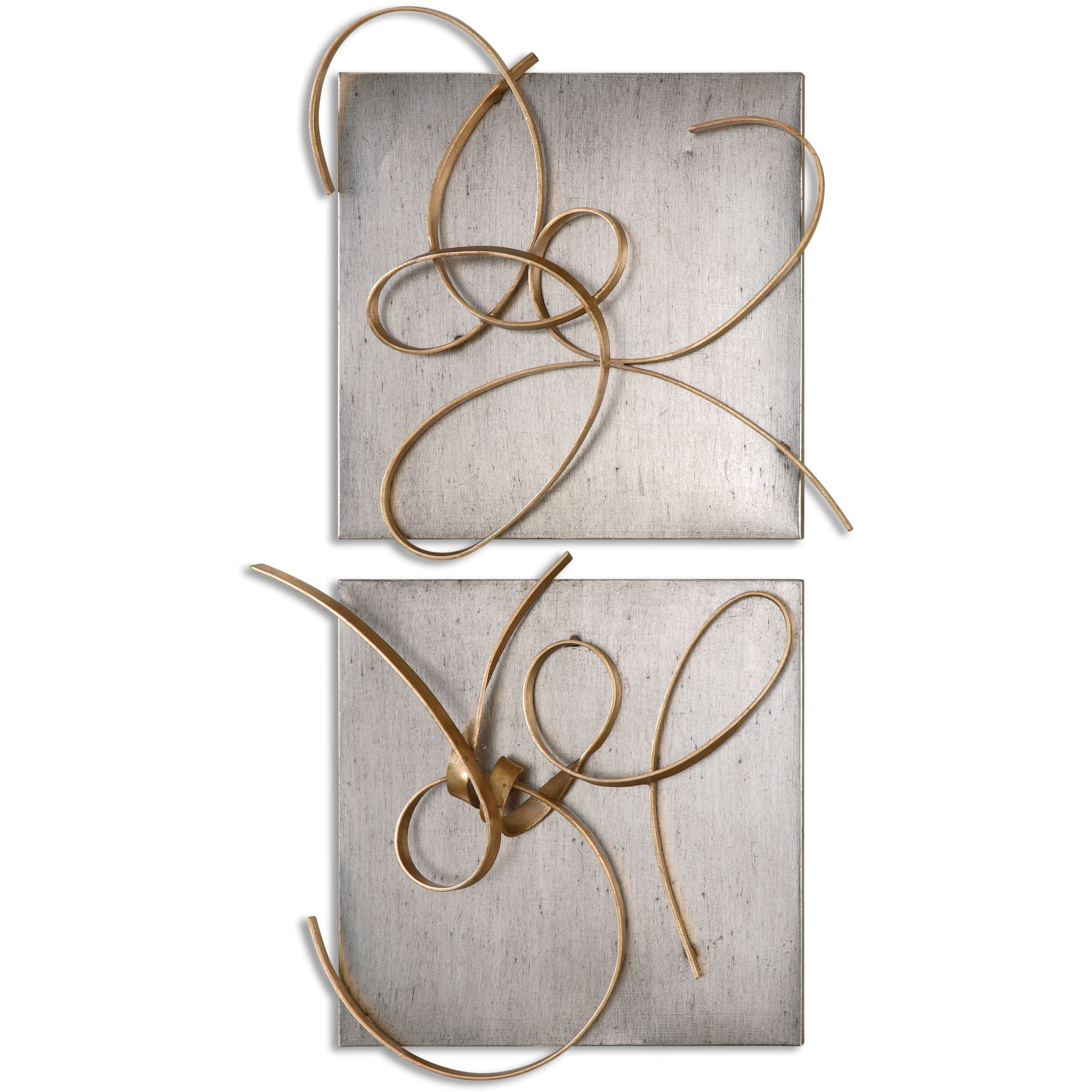 Metal Wall Art Set Of 2 Uttermost Harmony Metal Wall Art Set Of 2  Free Shipping Today