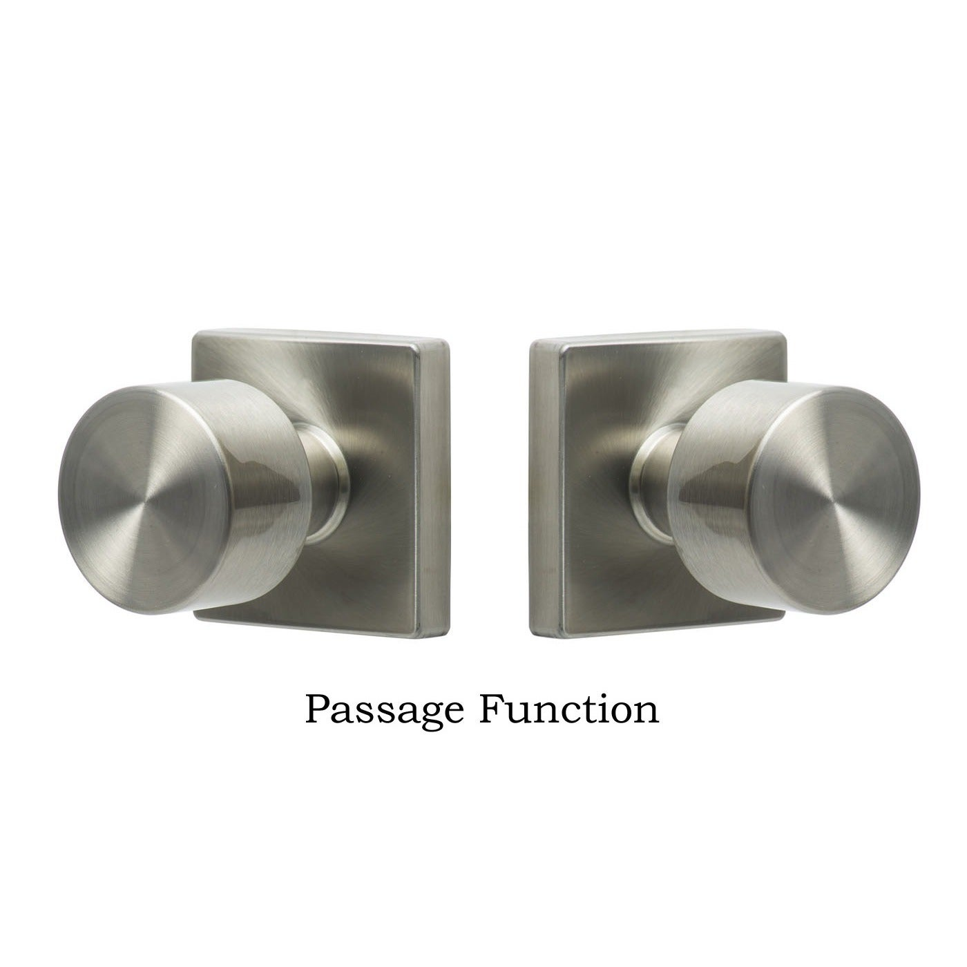 Shop Sure Loc Bergen Stainless Steel Square Door Knob   Free Shipping On  Orders Over $45   Overstock.com   9721763