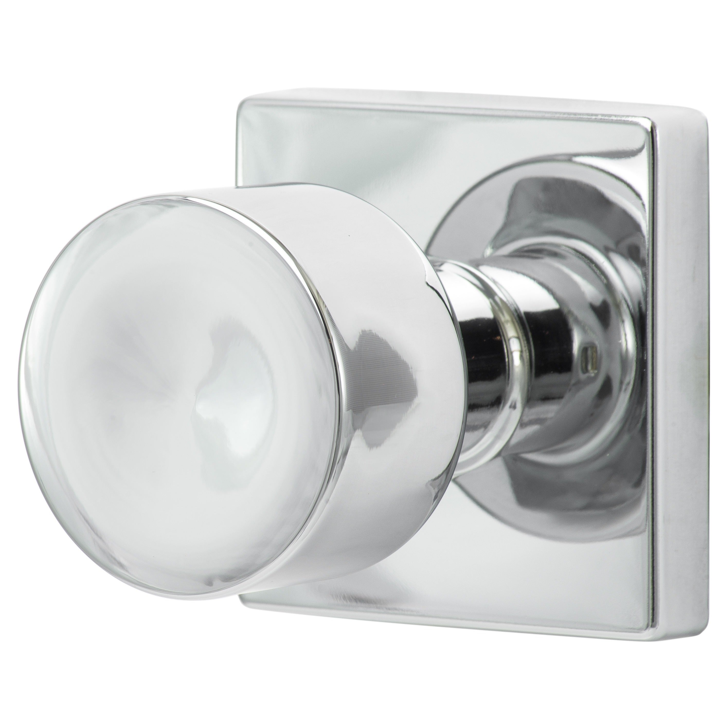 Sure Loc Bergen Polished Chrome Door Knob With Square Rose Plate   Free  Shipping On Orders Over $45   Overstock   16896199