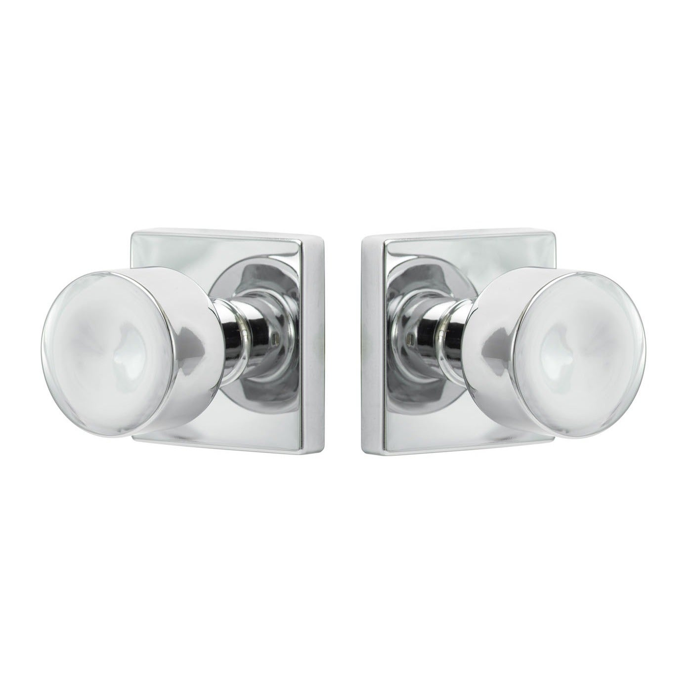 Sure-Loc Bergen Polished Chrome Door Knob with Square Rose Plate ...