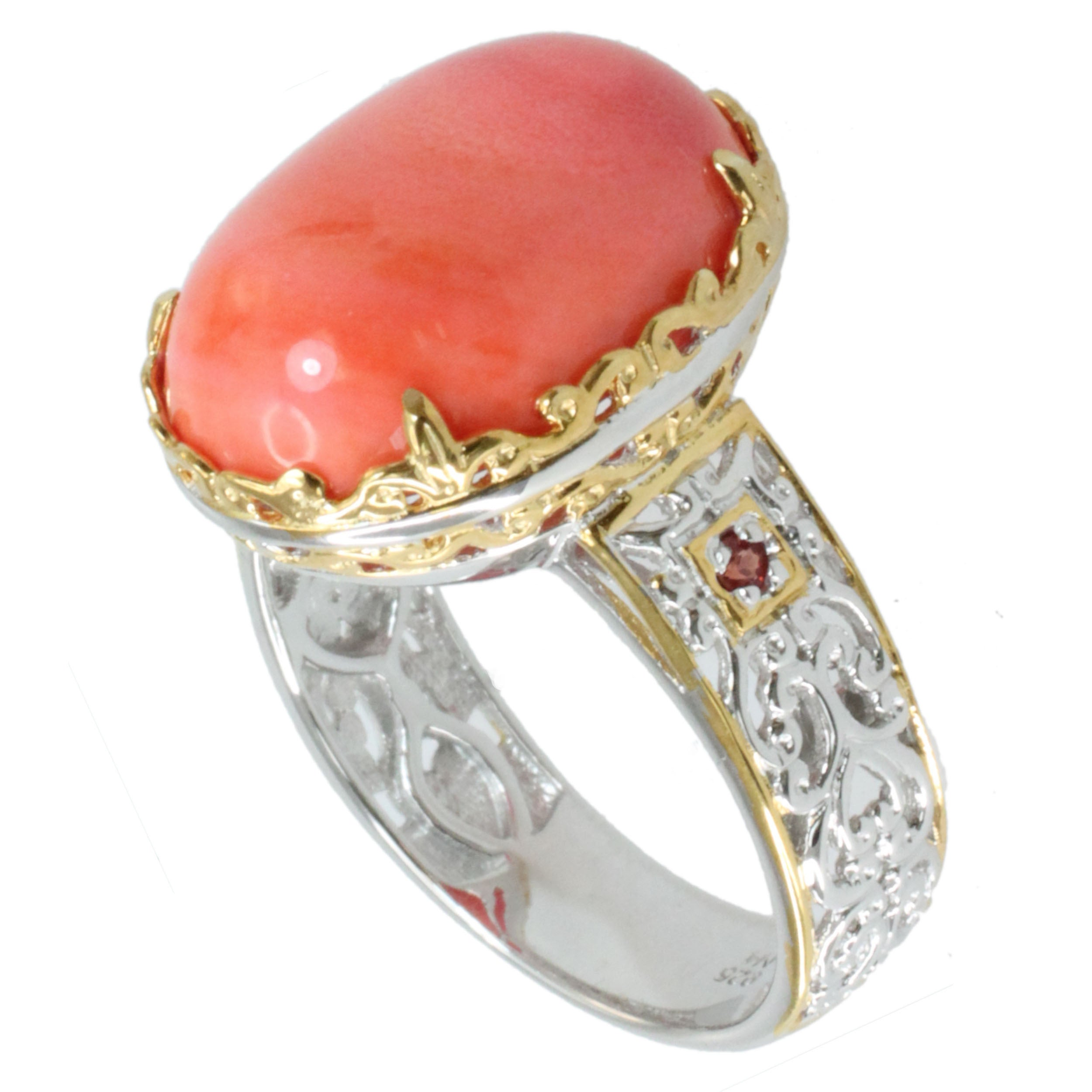 coral pomellato enlarged capri diamond ring realreal and cocktail products jewelry the rings