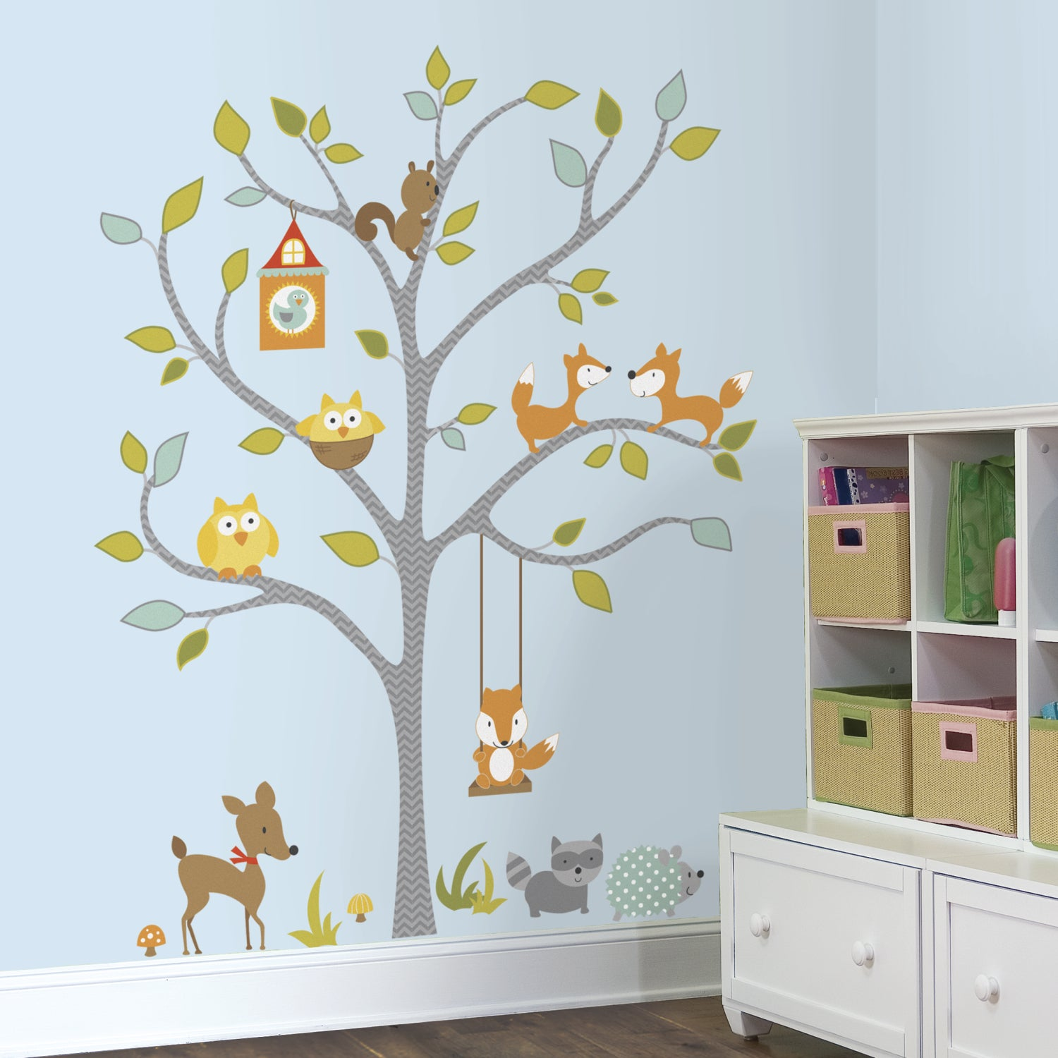 Shop Woodland Fox Friends Tree Peel And Stick Wall Decals Free