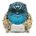Michael Valitutti Sky Blue Topaz and Sapphire Ring