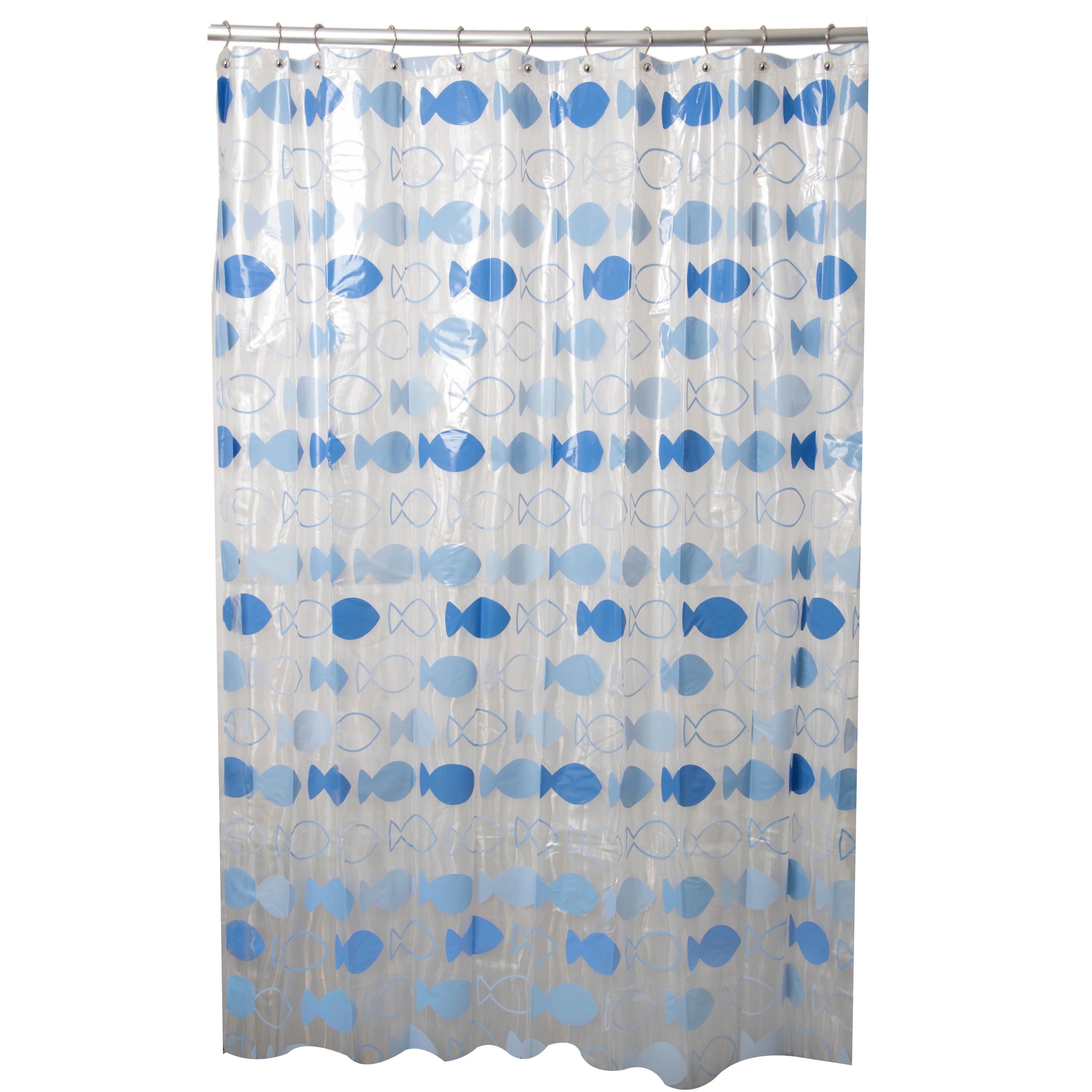 Shop Lets Go Fishing Blue Shower Curtain
