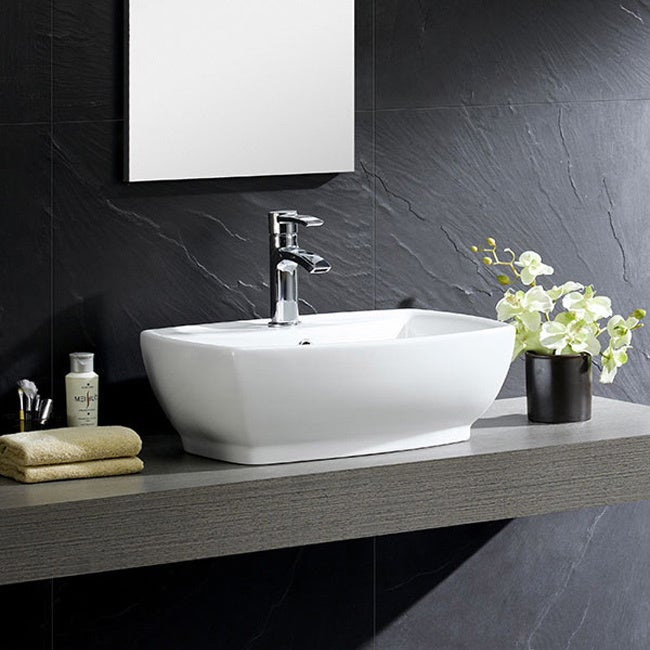 High Quality Fine Fixtures White Vitreous China Modern Vessel Sink   Free Shipping Today    Overstock.com   16897619