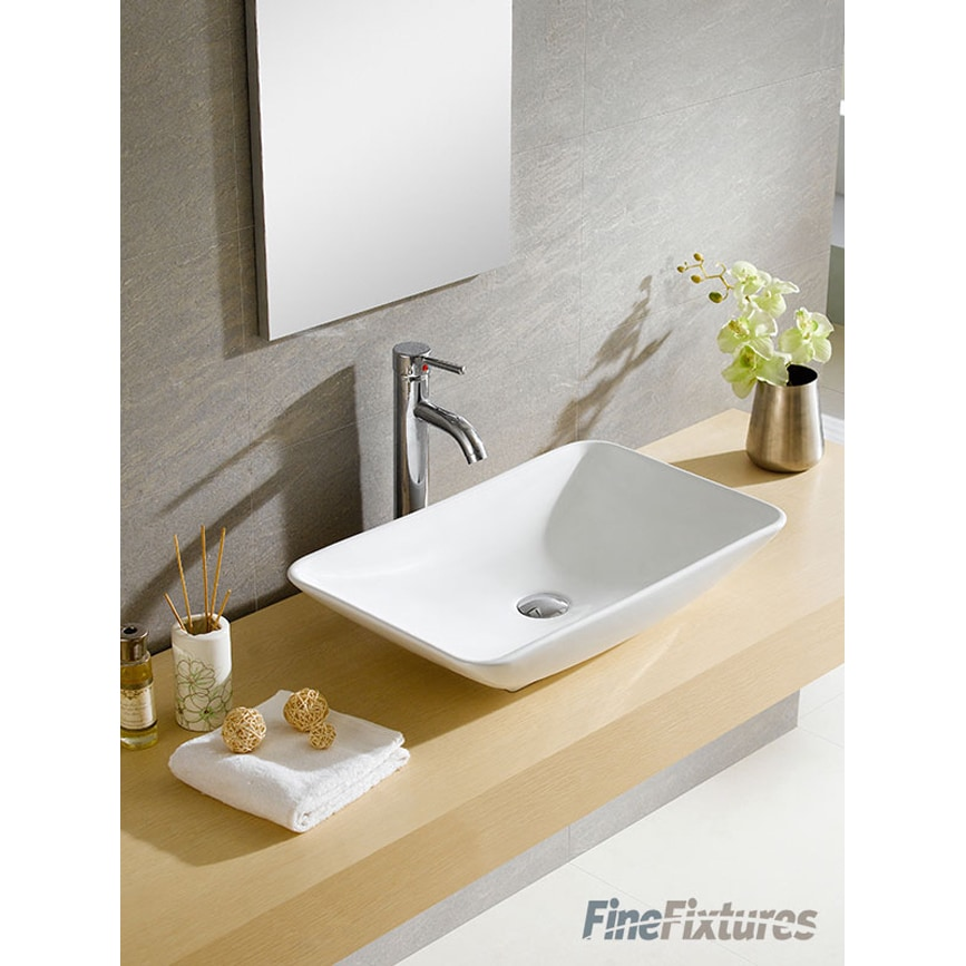 Fine Fixtures White Vitreous China Rectangle Vessel Sink - Free ...