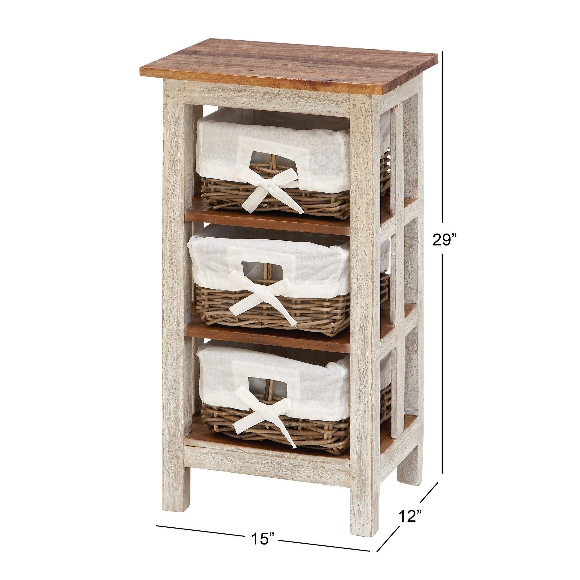 Shop Farmhouse 29 X 15 Inch White Wood And Rattan Cabinet By Studio 350    Free Shipping Today   Overstock   9723703