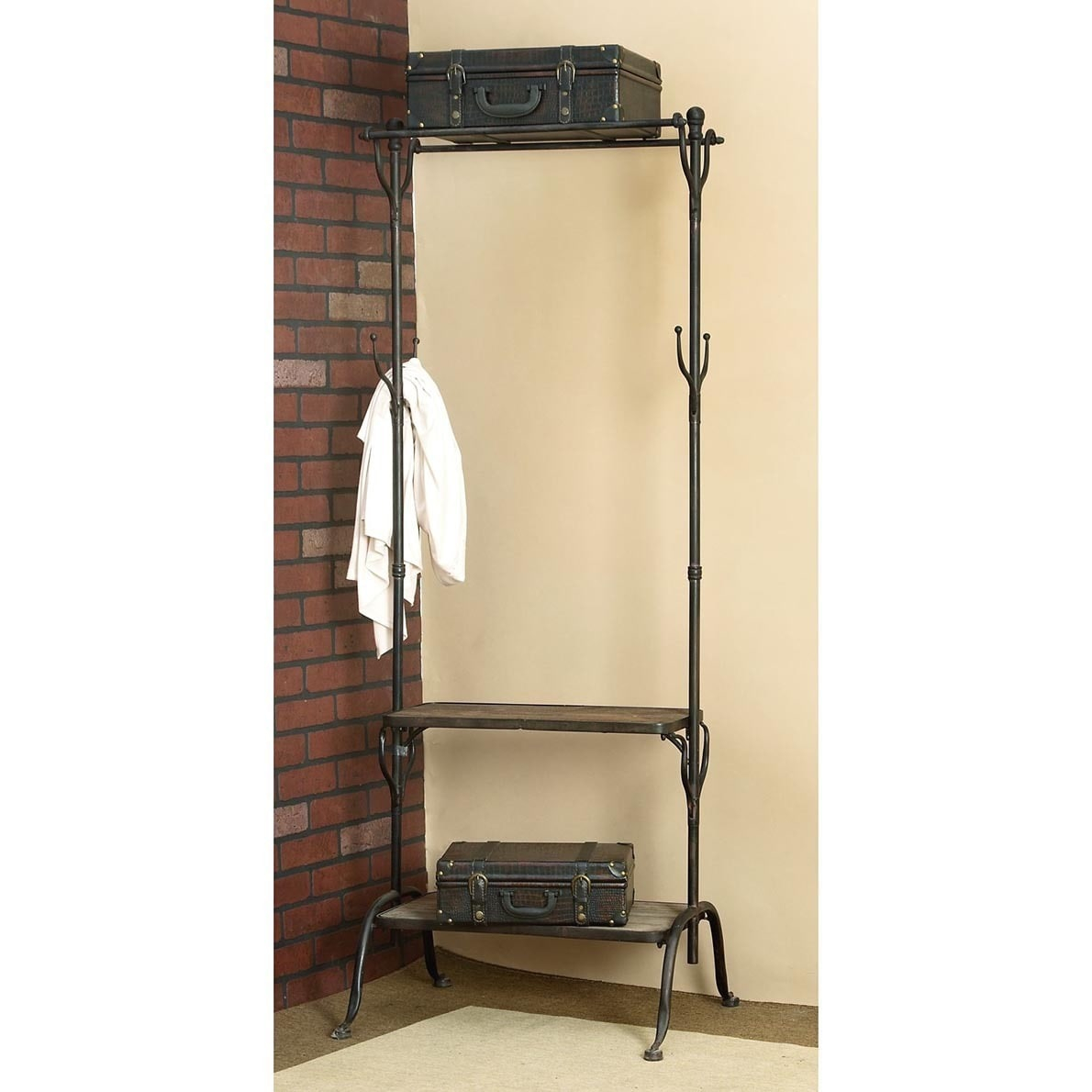 Metal/ wood Clothes Rack - Free Shipping Today - Overstock.com - 16897868
