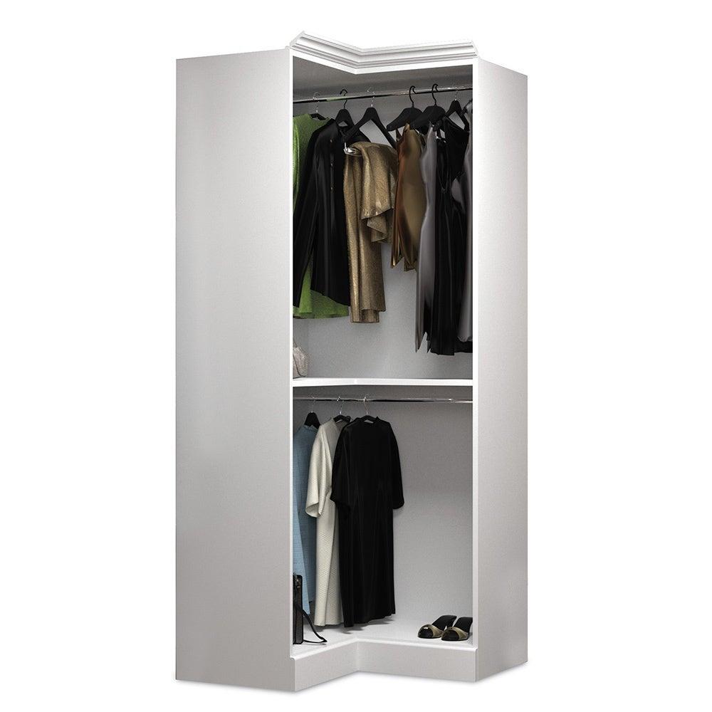 Versatile by Bestar 108-inch Corner Closet Storage Kit - Free ...