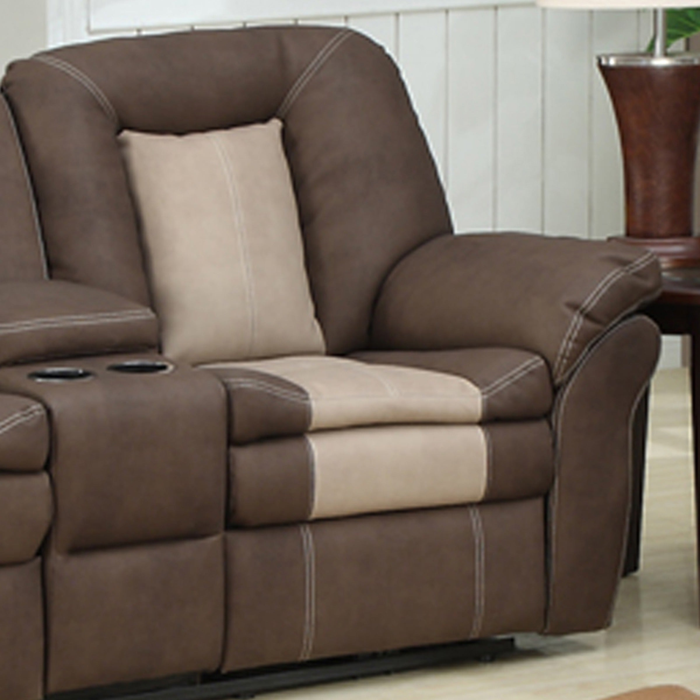Carson 2 Piece Dual Reclining Sofa With Storage Console And