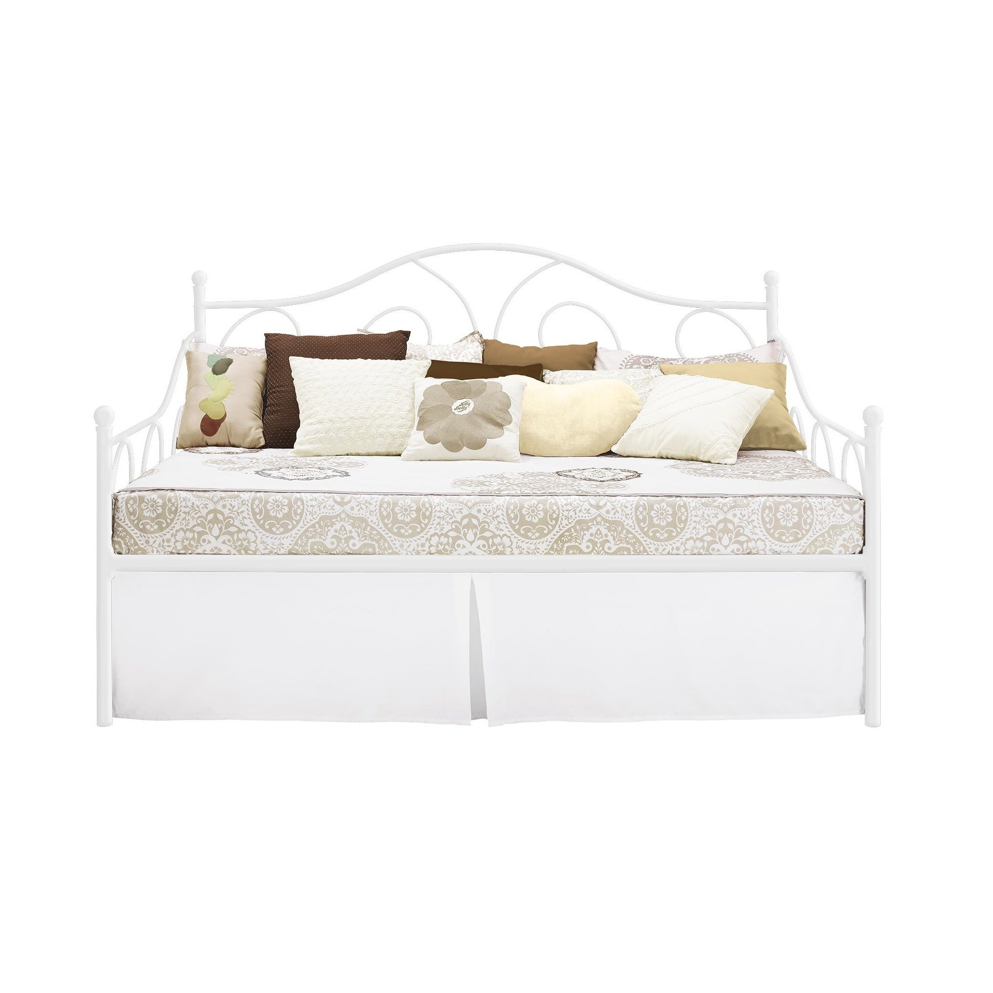 Dhp Victoria Full Size White Metal Daybed Free Shipping Today 9724332