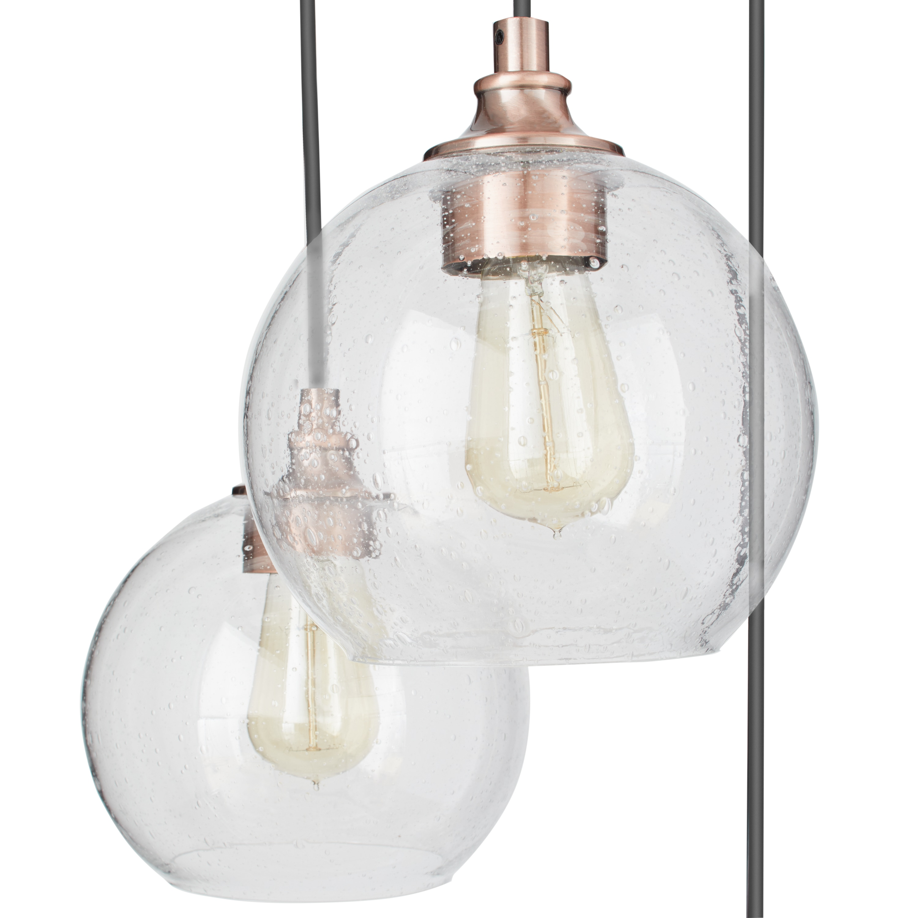 Mini Pendant Uptown Clear Globe Cer Copper 3 Light Free Shipping Today Com 9724459