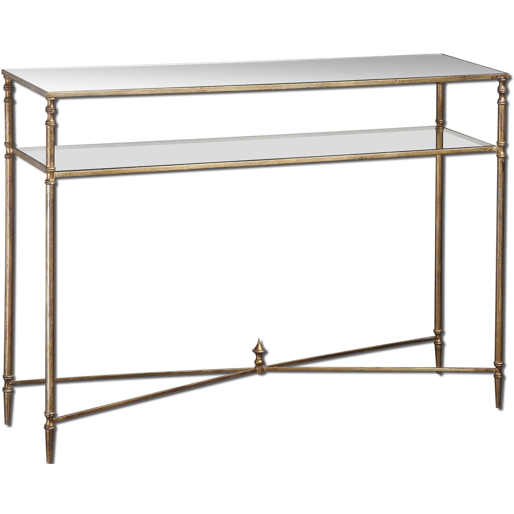 Uttermost Henzler Mirrored Glass Console Table - Free Shipping Today -  Overstock.com - 16902742